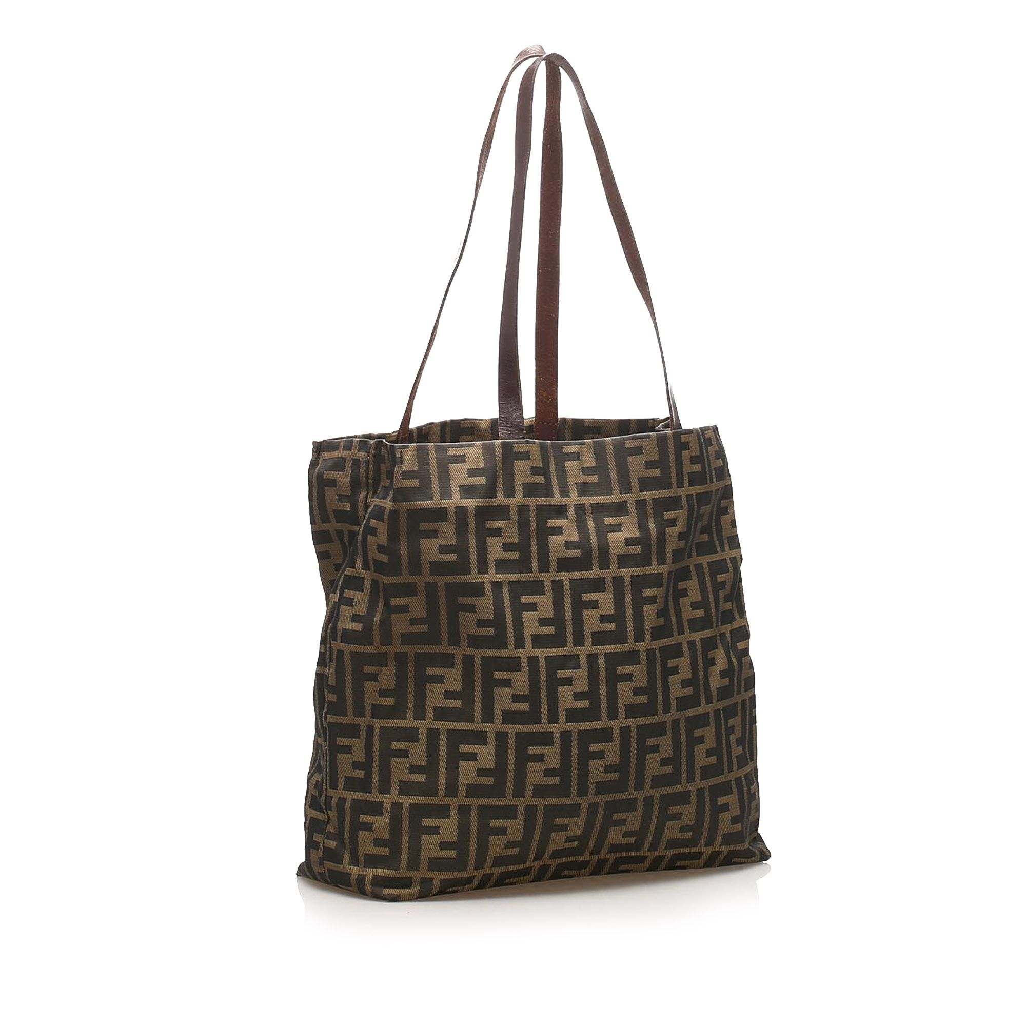 Vintage Fendi Zucca Nylon Tote Bag Black