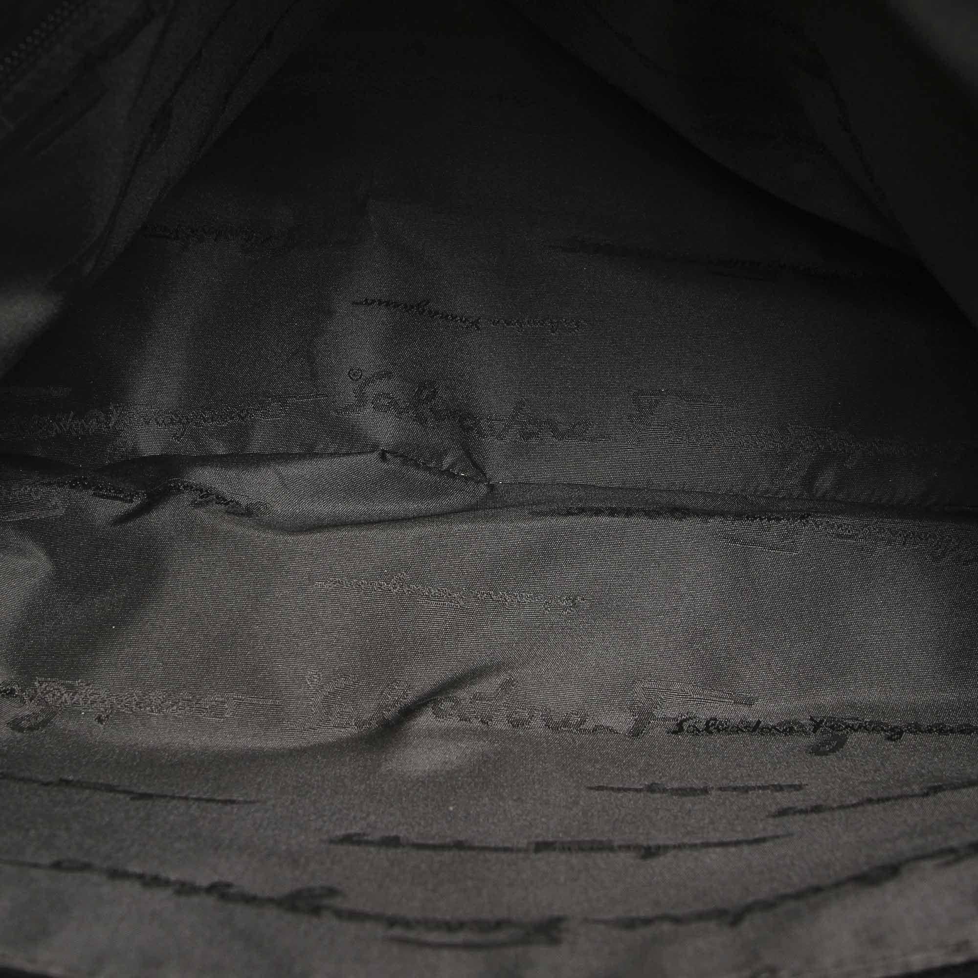 Vintage Ferragamo Nylon Tote Bag Black