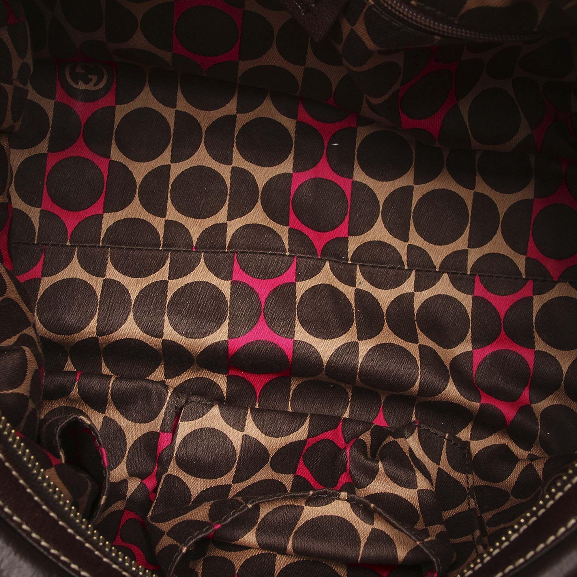 Vintage Gucci Duchessa Leather Handbag Brown
