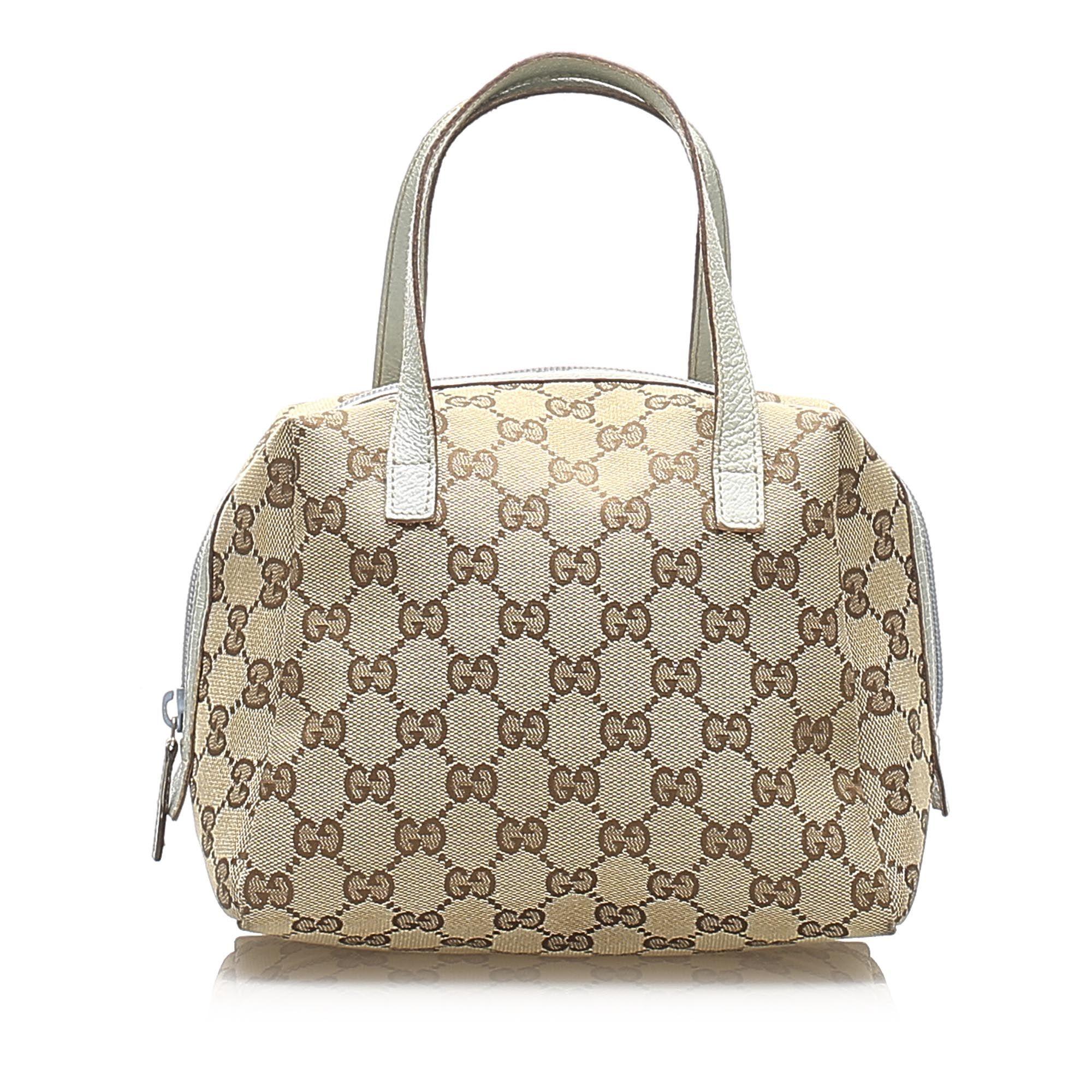 Vintage Gucci GG Canvas Handbag Brown