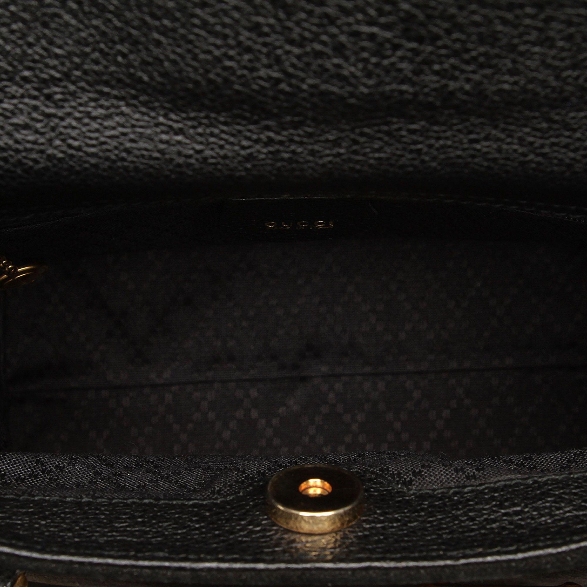 Vintage Gucci Bamboo Suede Handbag Black