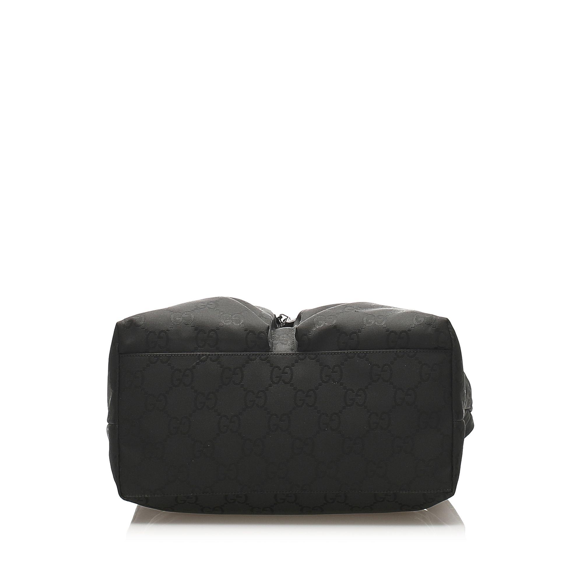Vintage Gucci GG Nylon Shoulder Bag Black