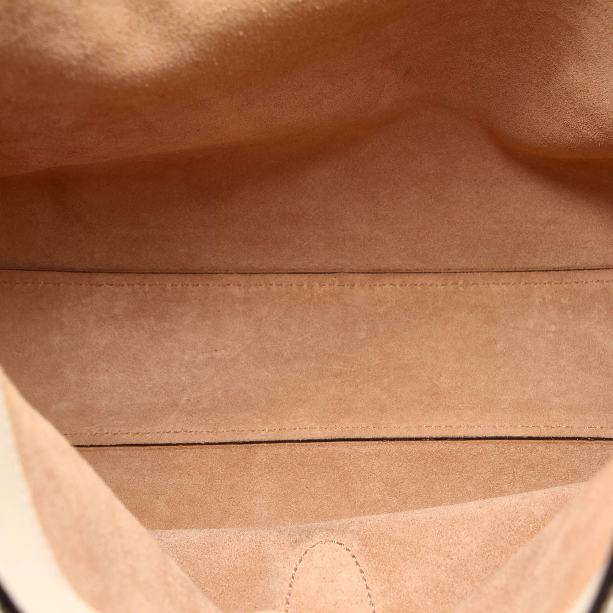 Vintage Gucci Soft Jackie Python Leather Shoulder Bag Brown
