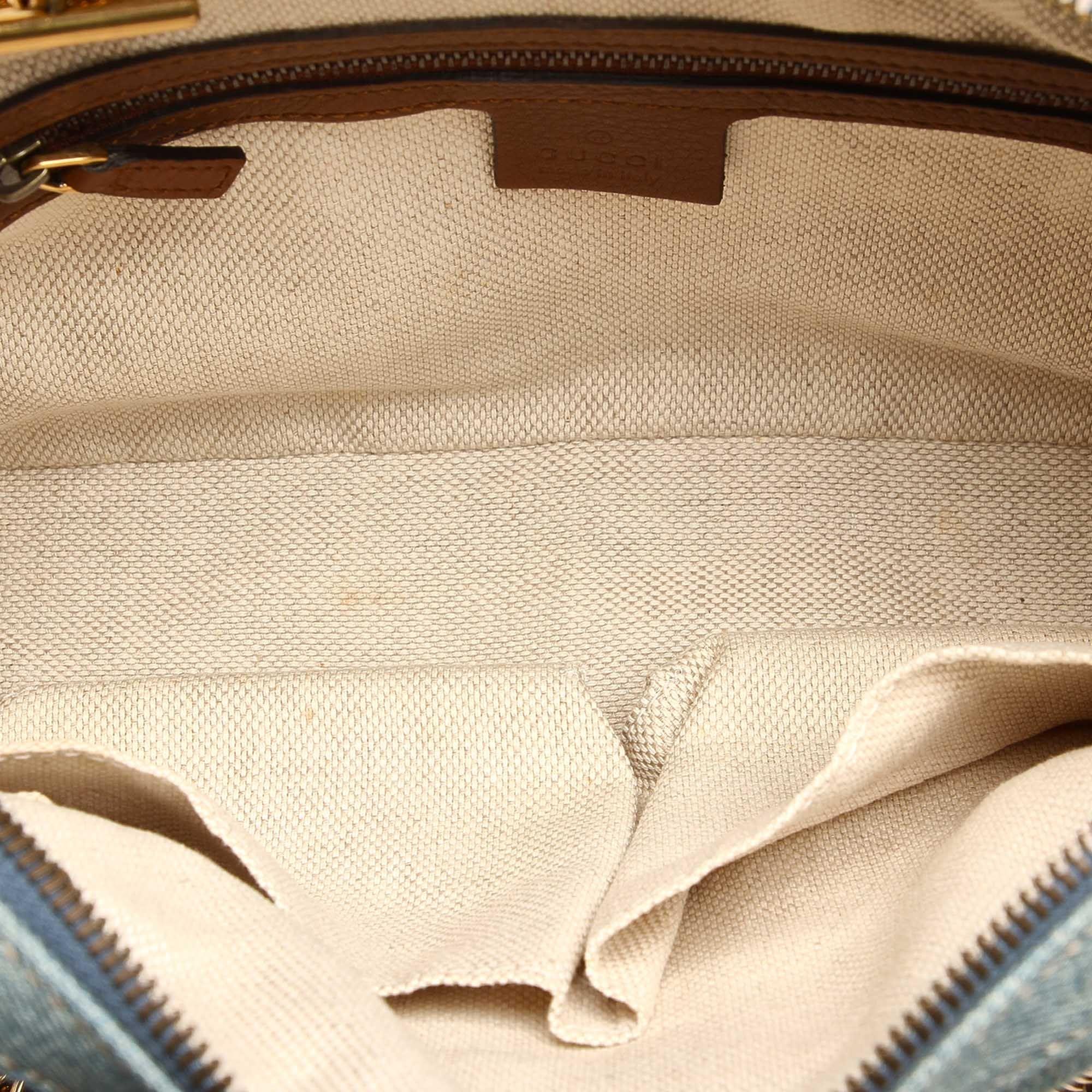 Vintage Gucci Soho Denim Shoulder Bag Blue