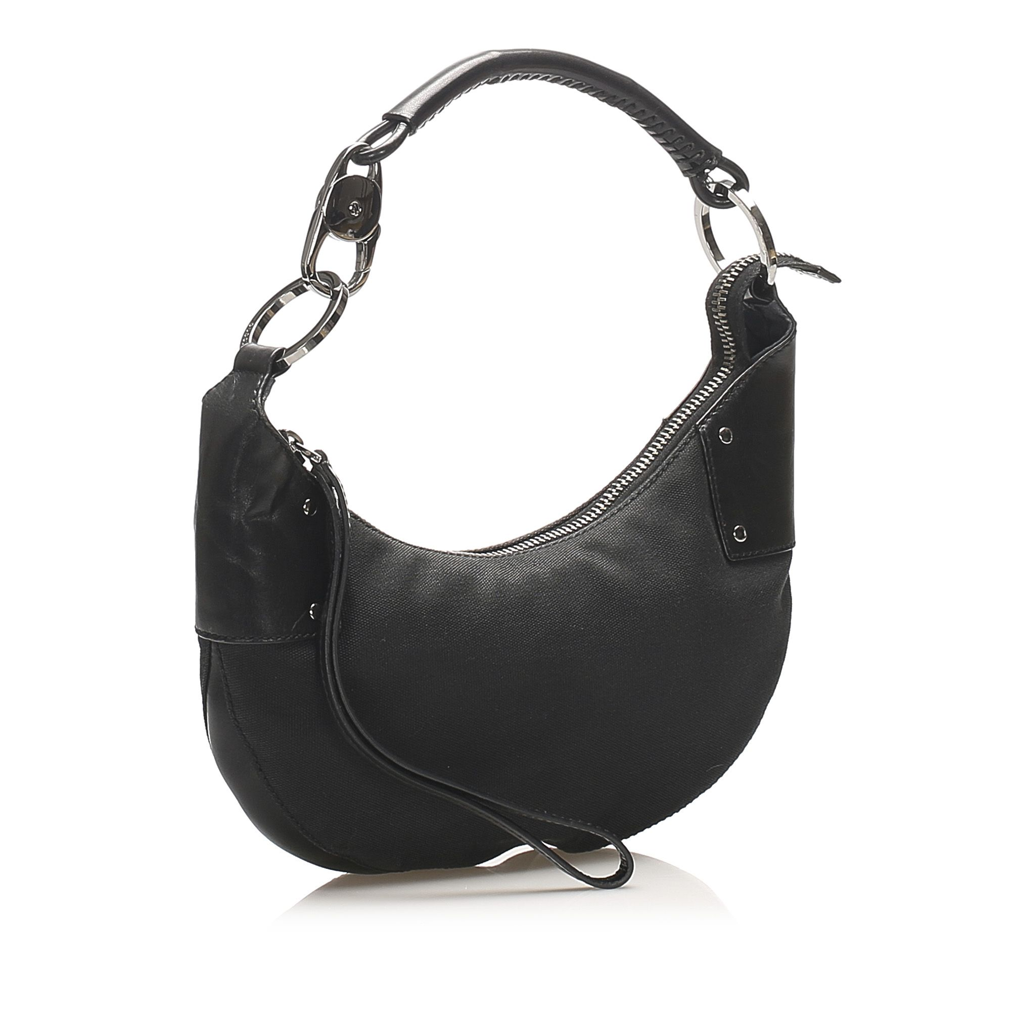 Vintage Gucci Canvas Hobo Bag Black