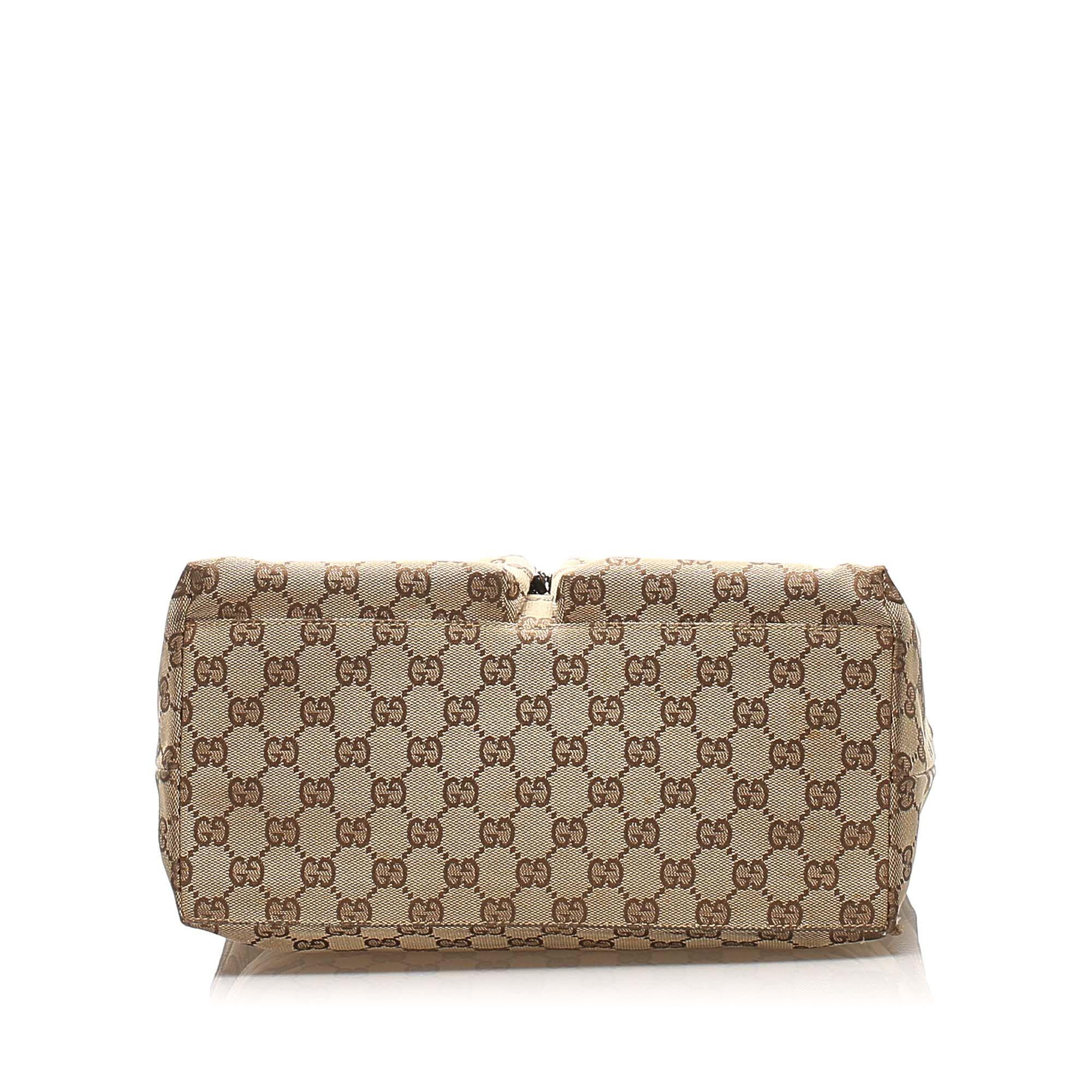 Vintage Gucci GG Canvas Shoulder Bag Brown
