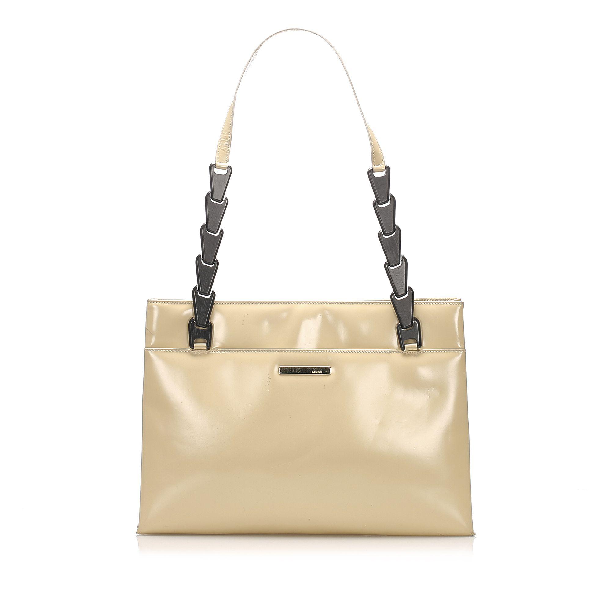 Vintage Gucci Leather Shoulder Bag Brown