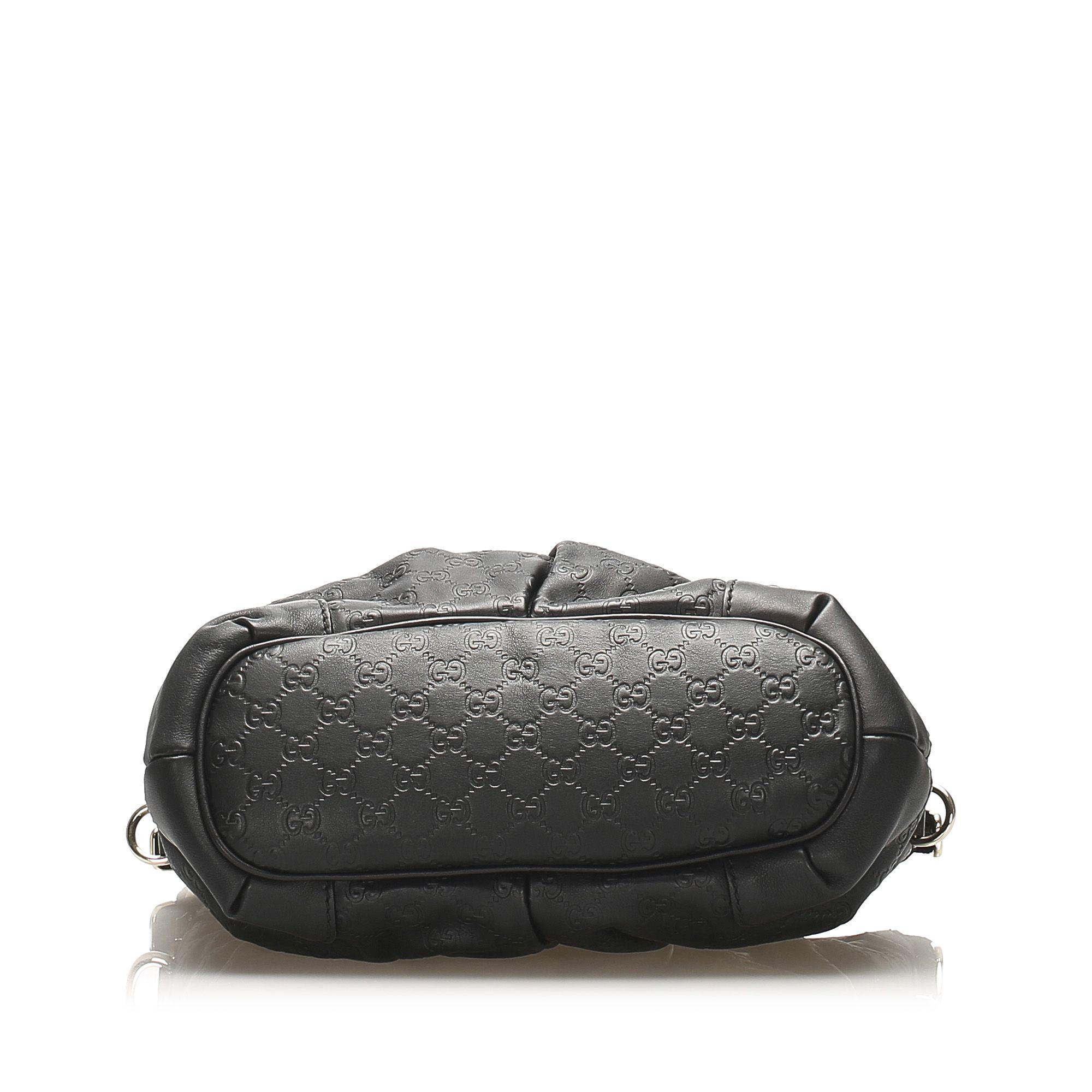 Vintage Gucci Guccissima Sukey Handbag Black