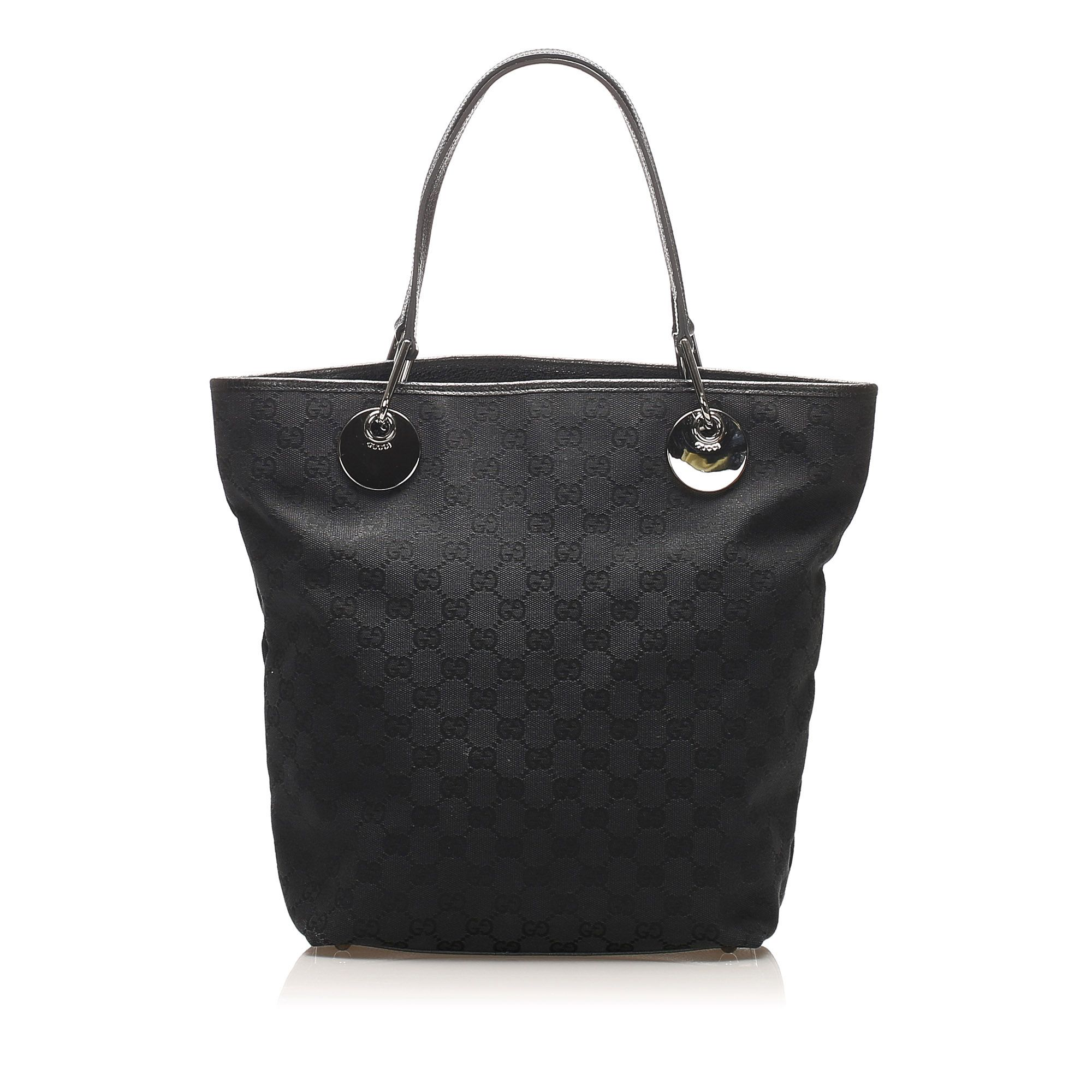 Vintage Gucci GG Canvas Eclipse Tote Bag Black