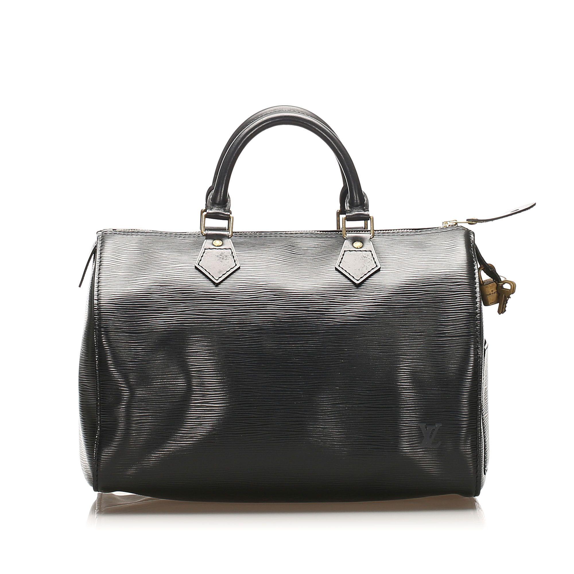 Vintage Louis Vuitton Epi Speedy 25 Black