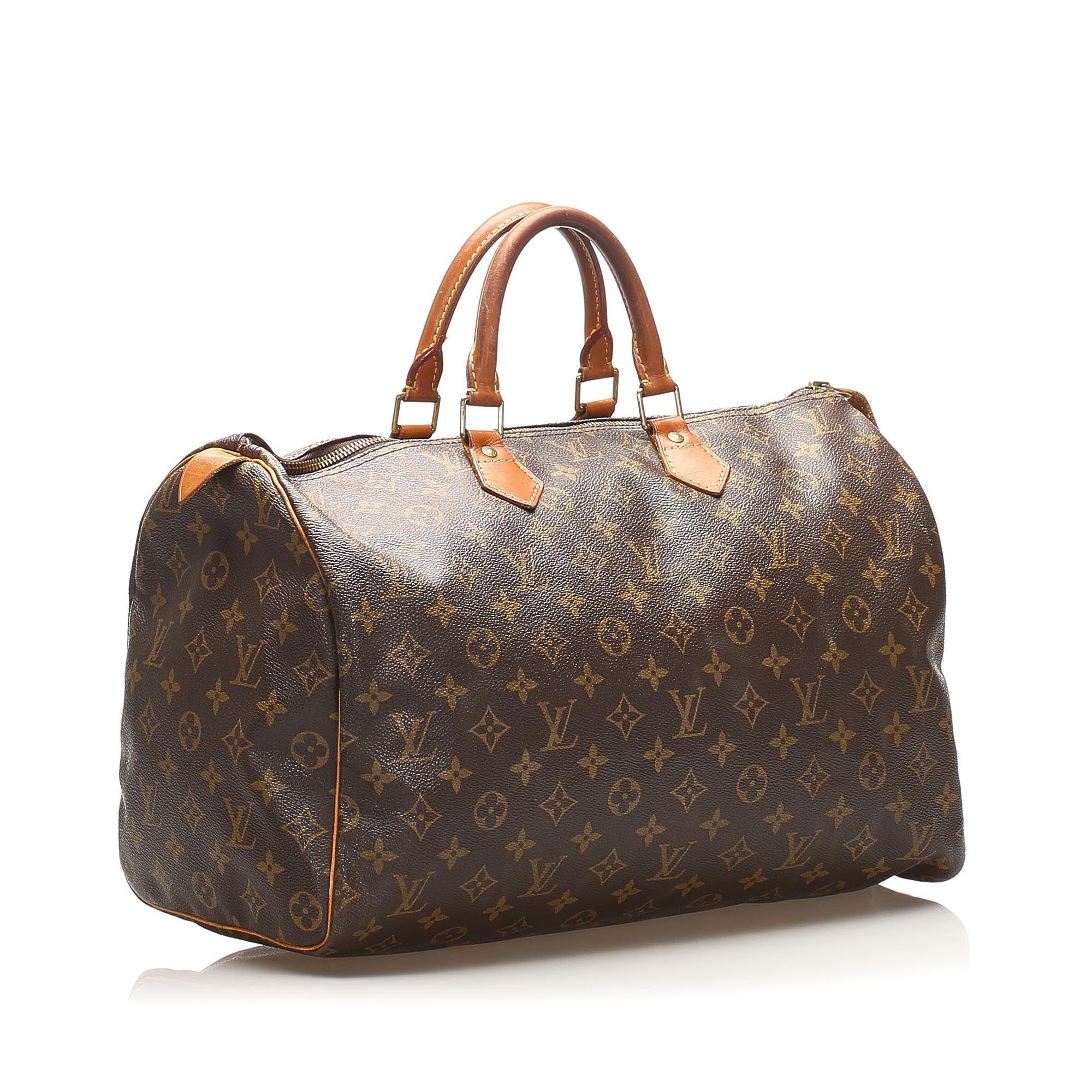Vintage Louis Vuitton Monogram Speedy 40 Brown