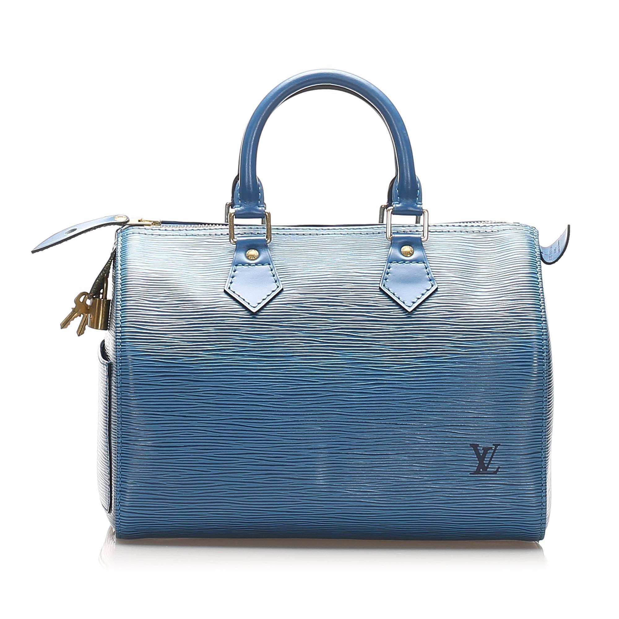 Vintage Louis Vuitton Epi Speedy 25 Blue