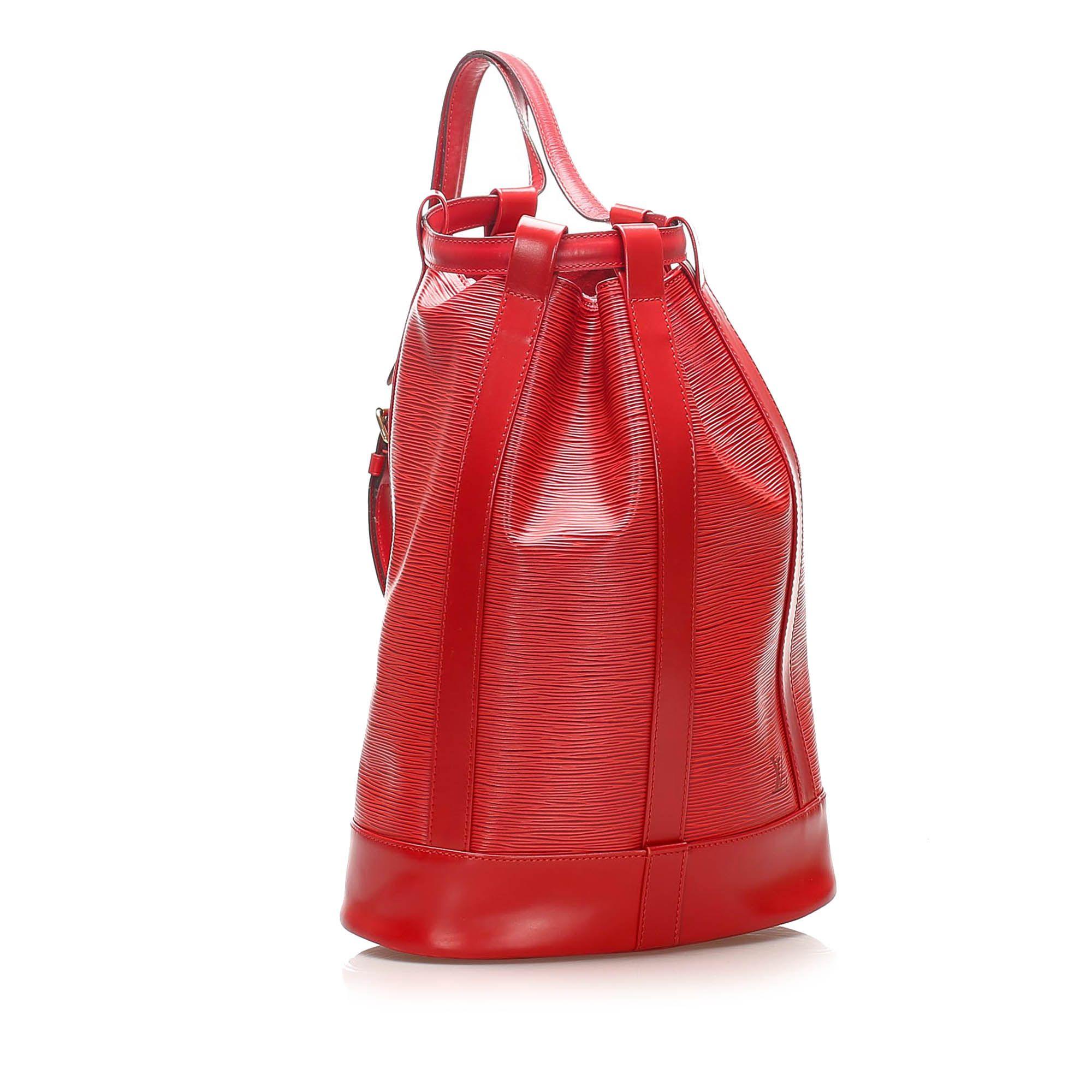 Vintage Louis Vuitton Epi Randonnee PM Red