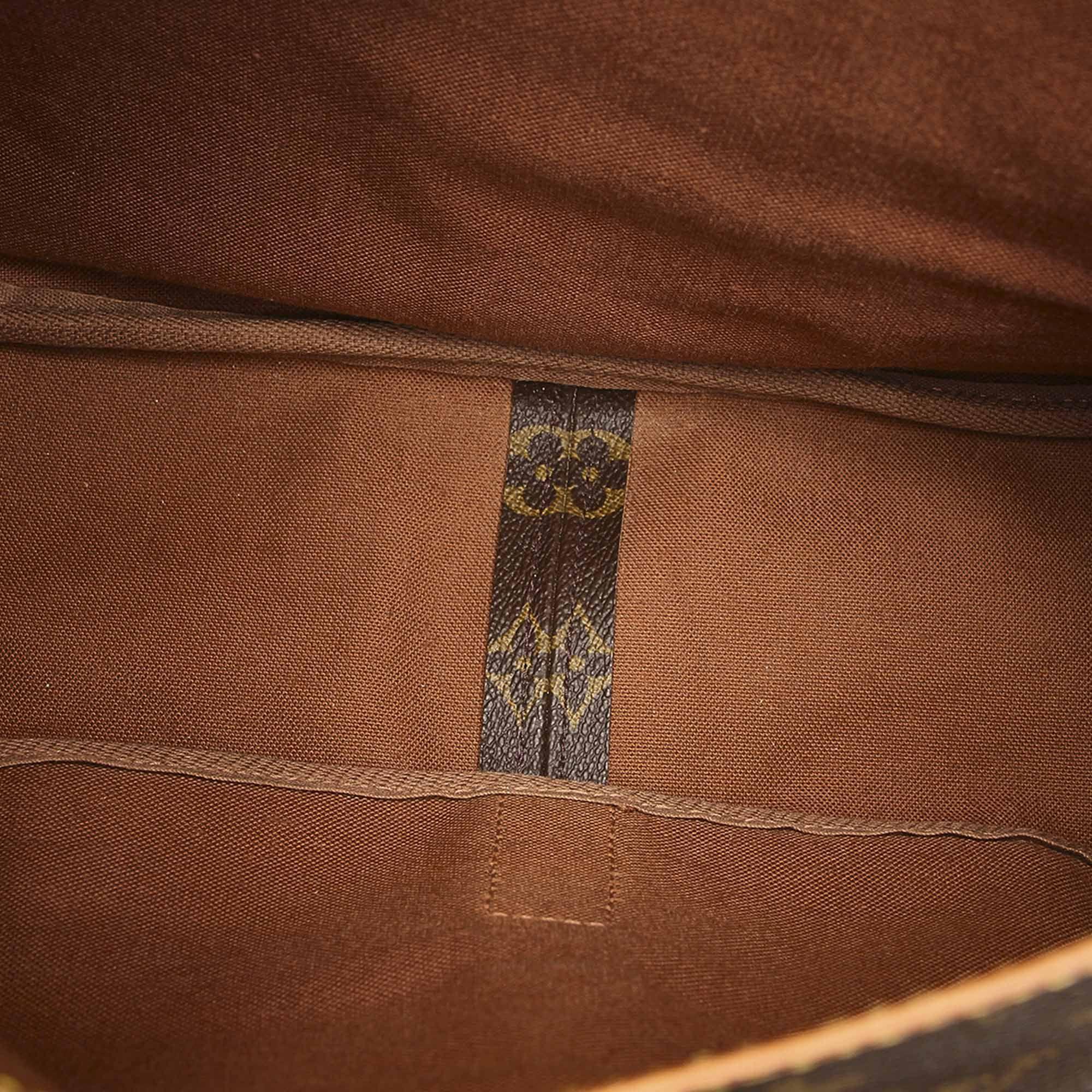 Vintage Louis Vuitton Monogram Saumur 35 Brown