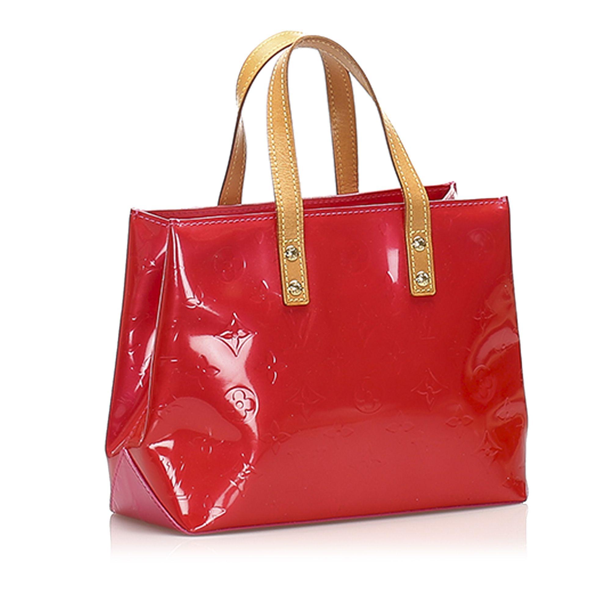 Vintage Louis Vuitton Vernis Reade PM Red