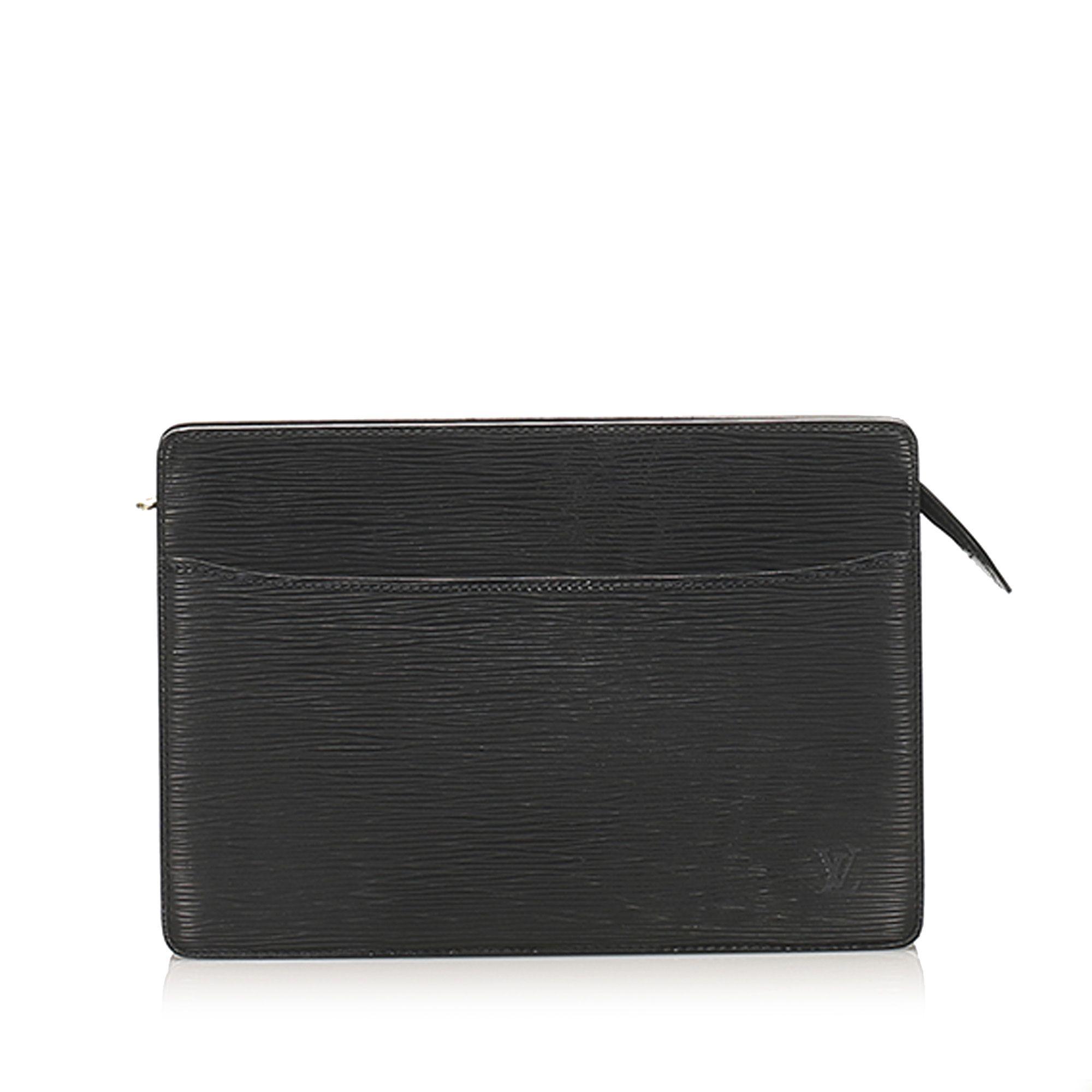 Vintage Louis Vuitton Epi Pochette Homme Black