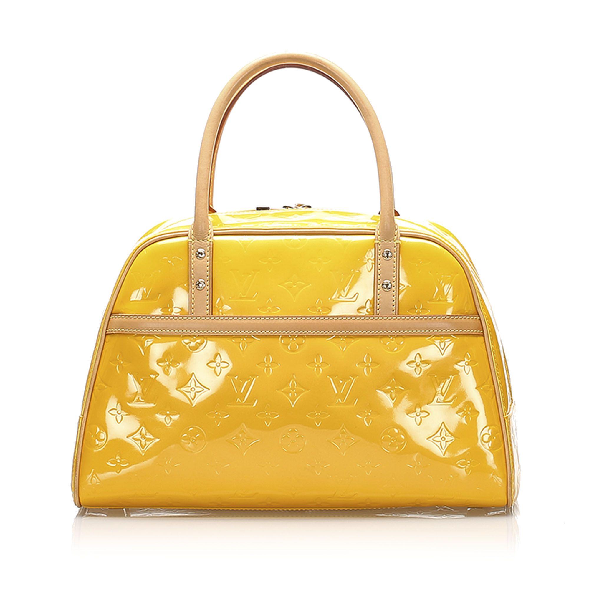 Vintage Louis Vuitton Vernis Tompkins Square Yellow