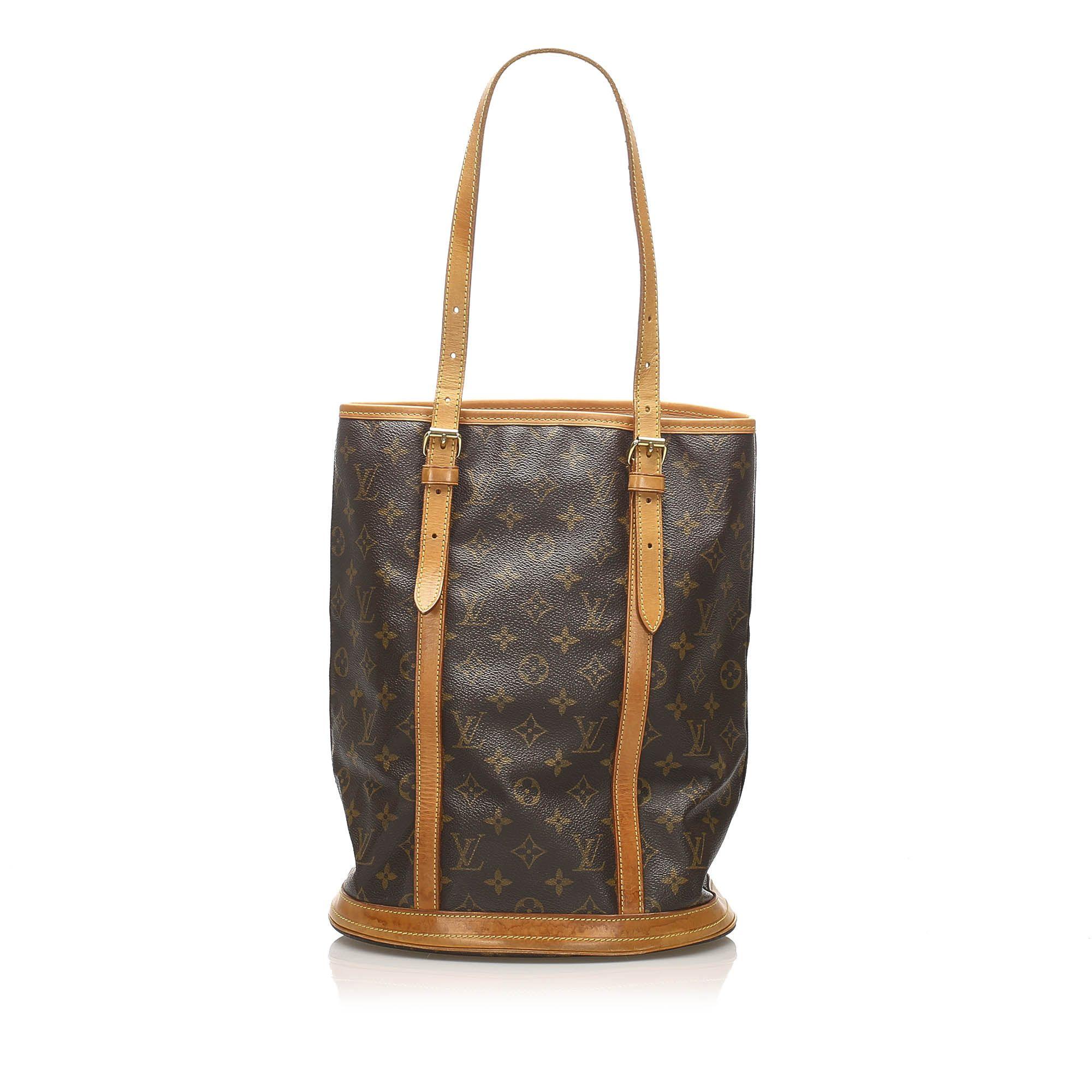 Vintage Louis Vuitton Monogram Bucket GM Brown