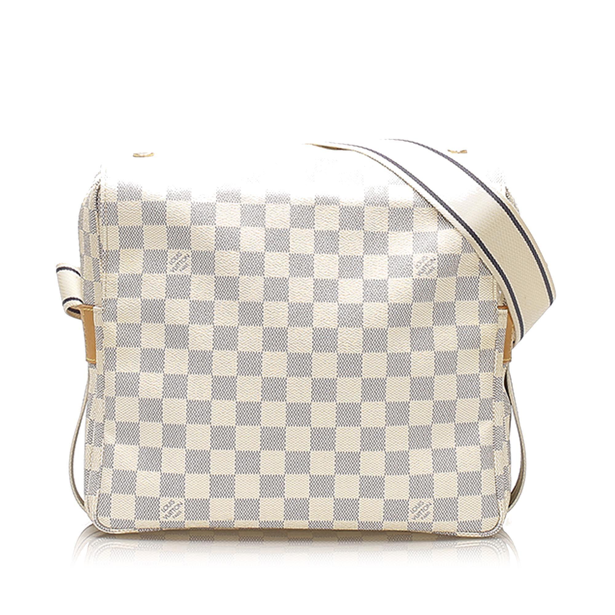 Vintage Louis Vuitton Damier Azur Naviglio White