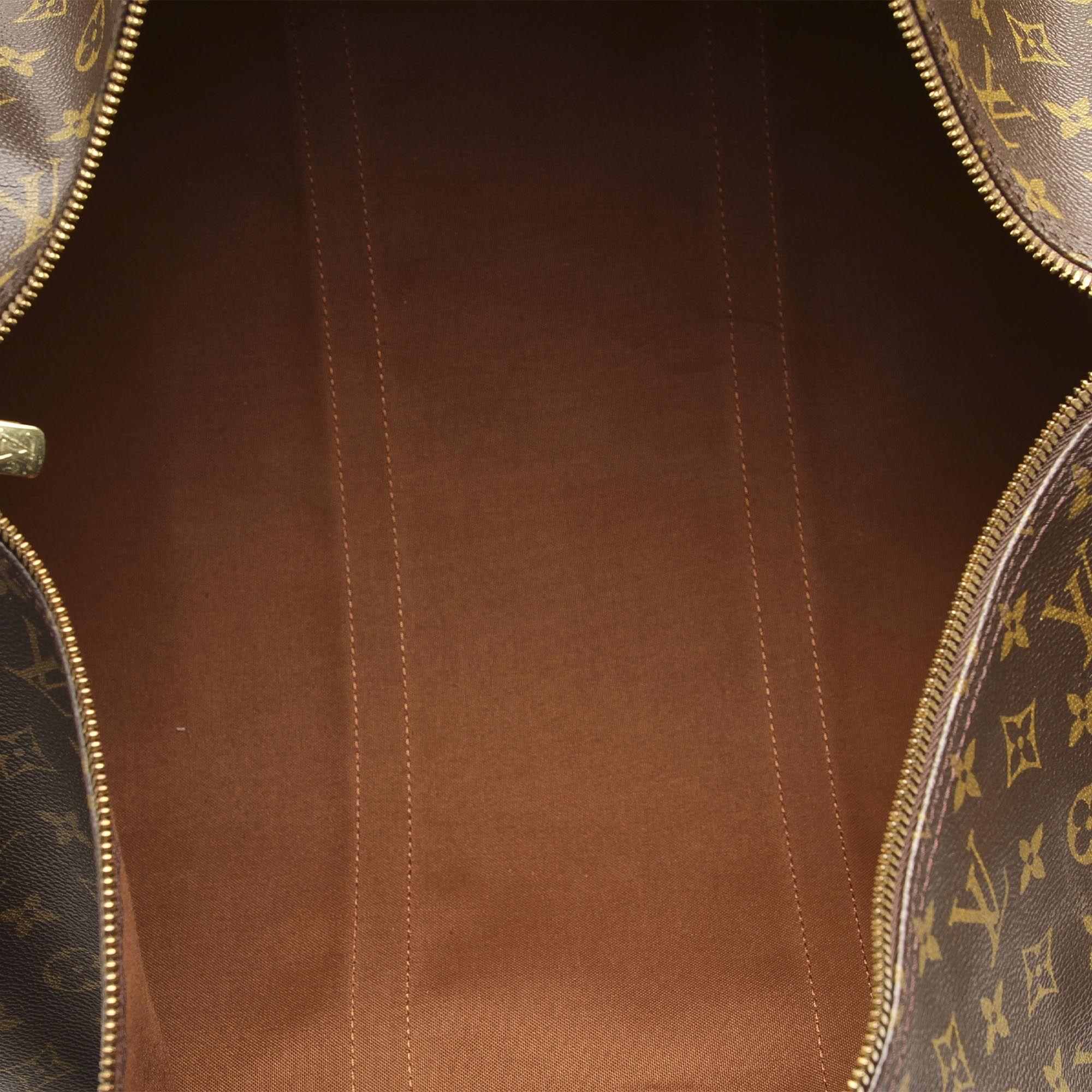 Vintage Louis Vuitton Monogram Keepall 60 Brown