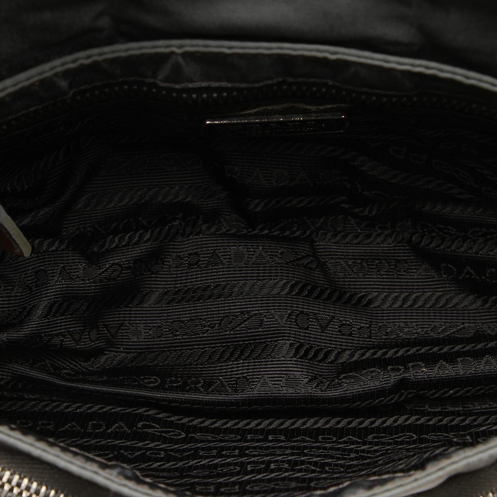Vintage Prada Nylon Baguette Black