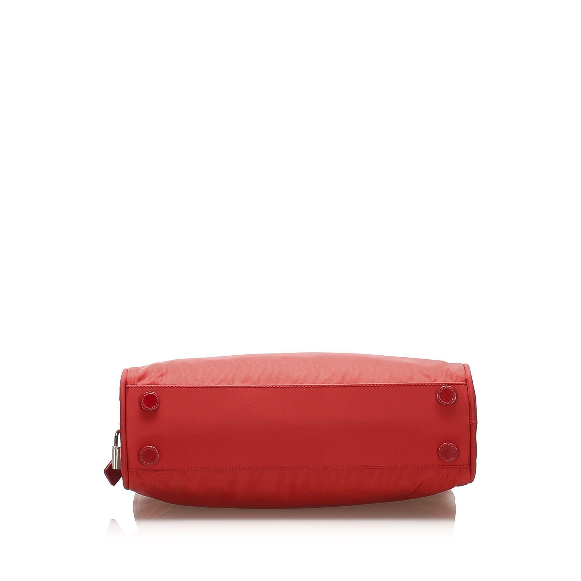 Vintage Prada Tessuto Handbag Red