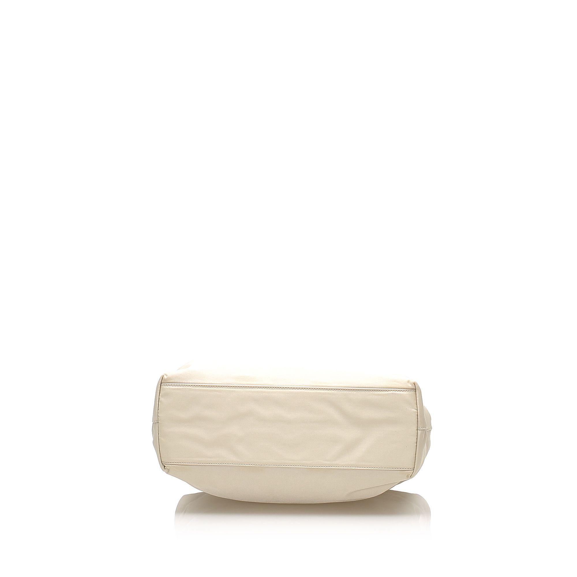 Vintage Prada Tessuto Tote Bag White