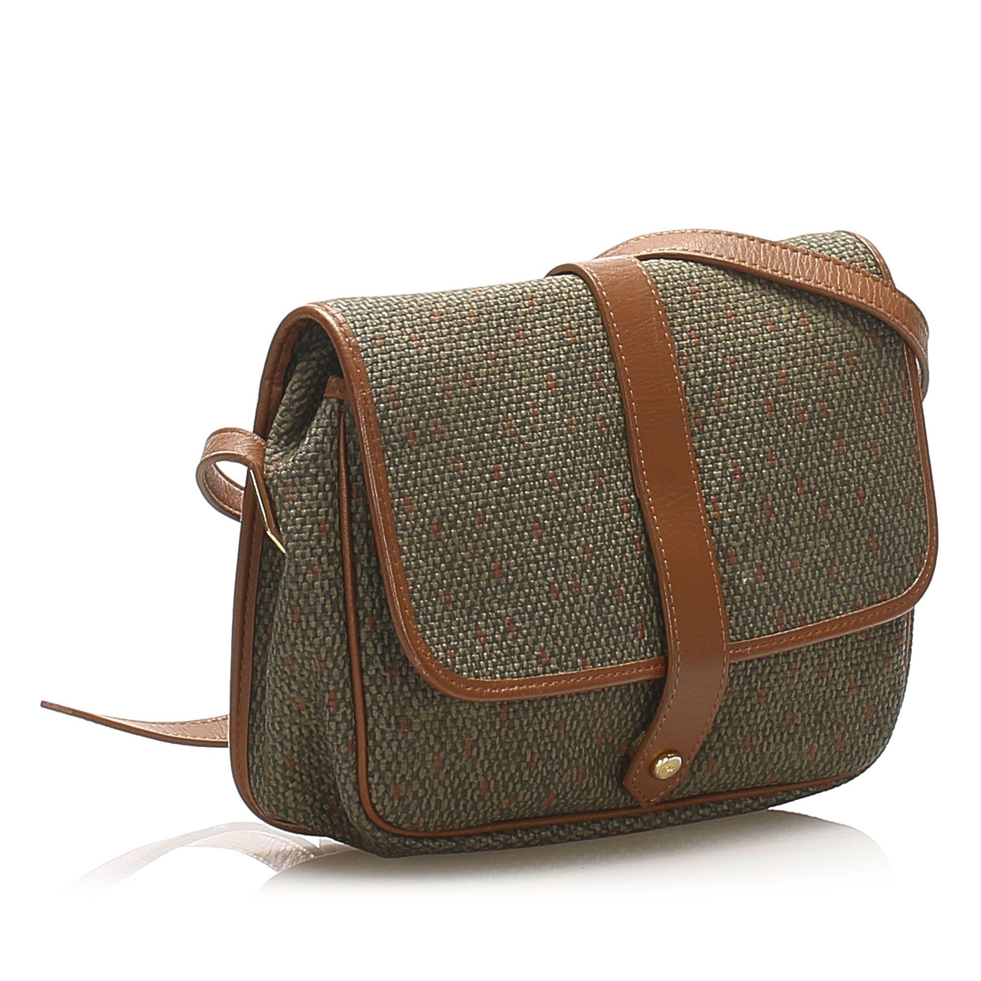 Vintage YSL Weaved Crossbody Bag Brown