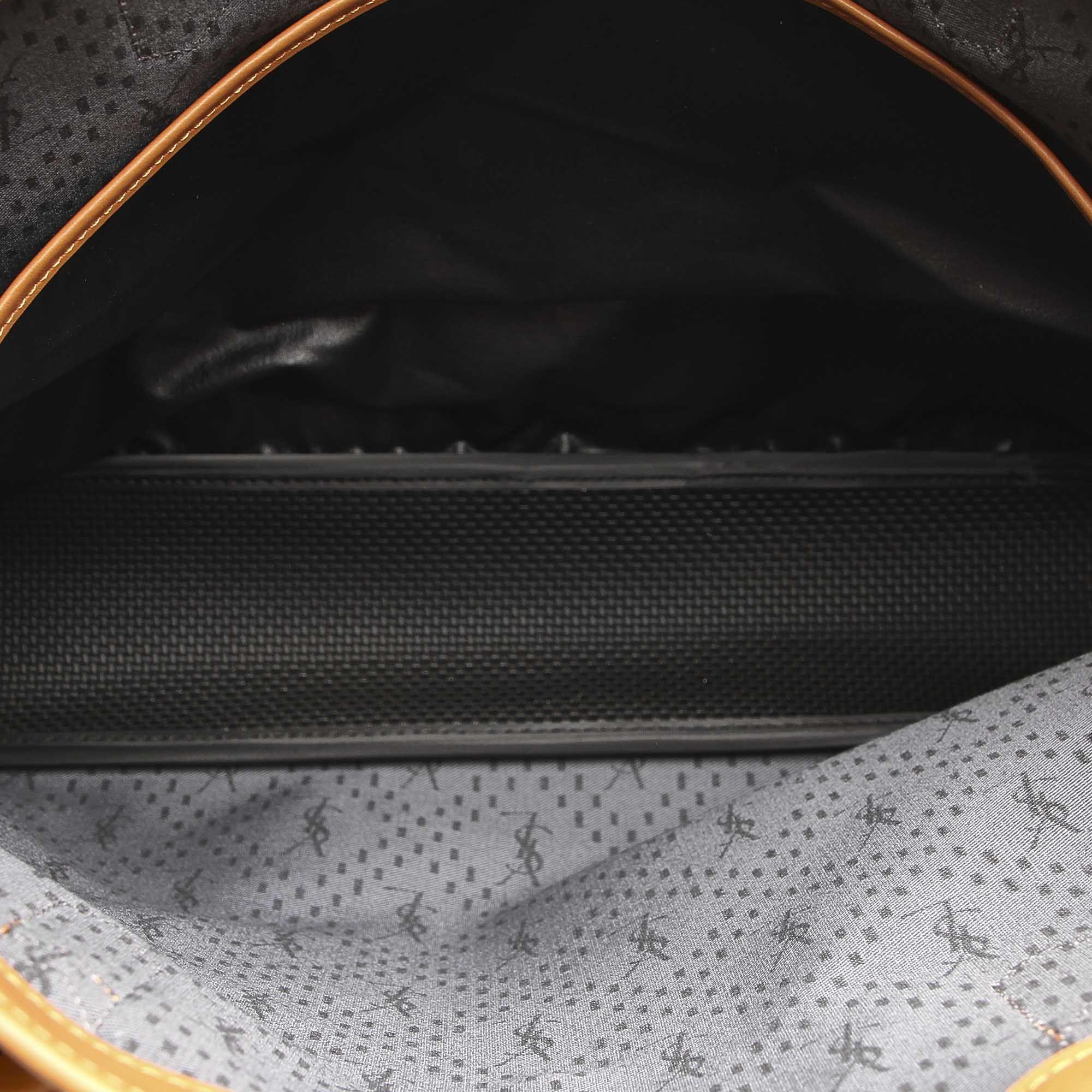 Vintage YSL Canvas Shoulder Bag Black