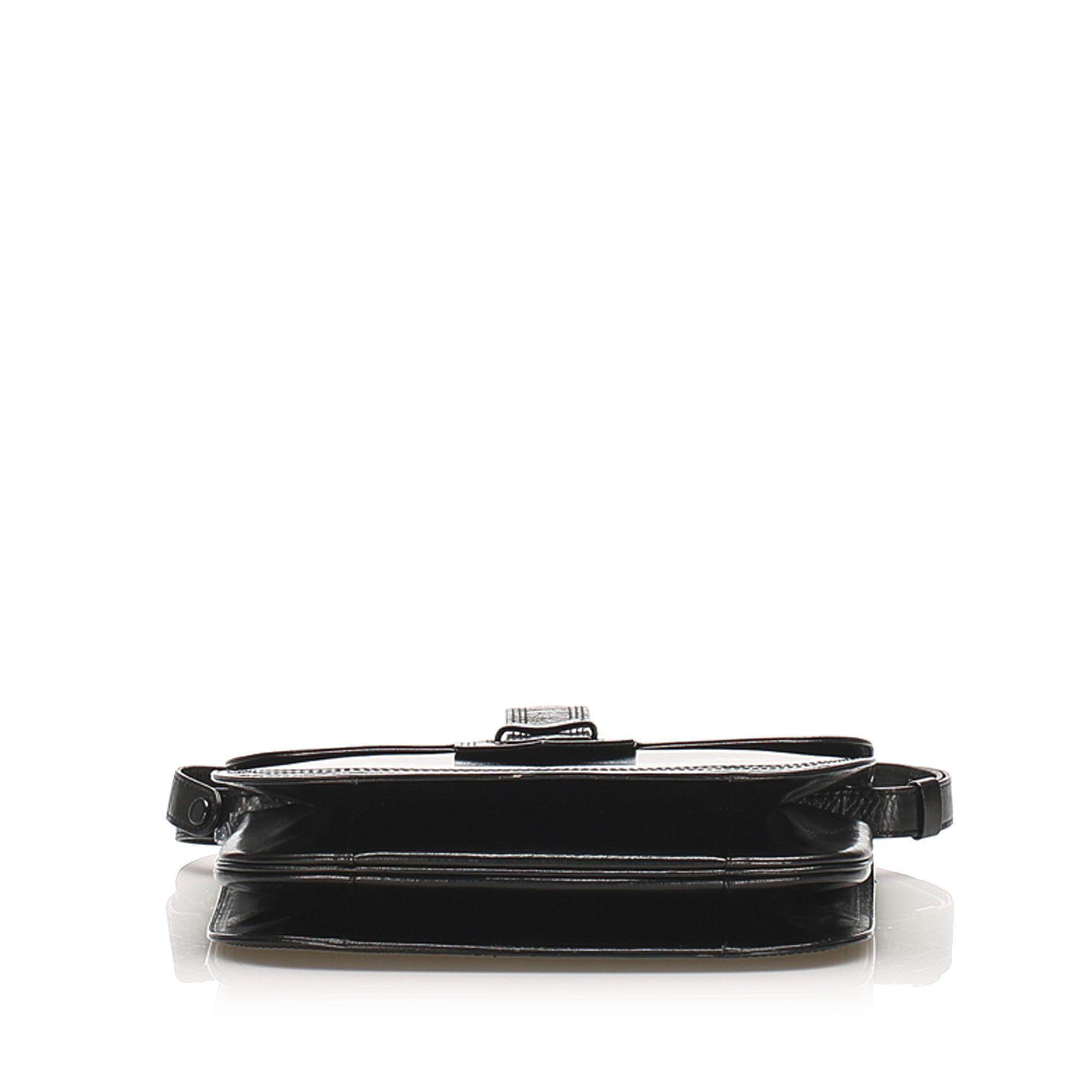 Vintage YSL Leather Handbag Black