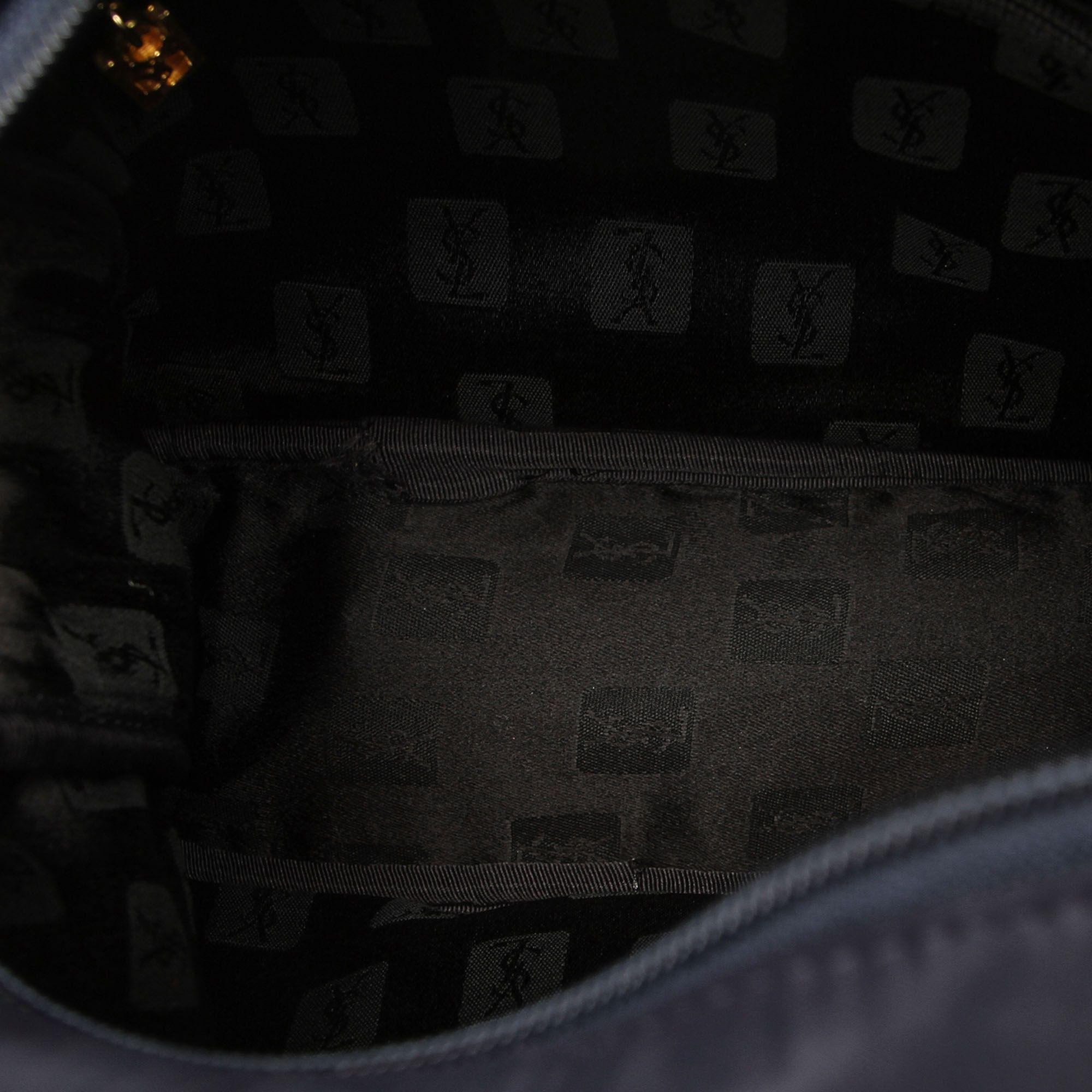Vintage YSL Leather Shoulder Bag Black