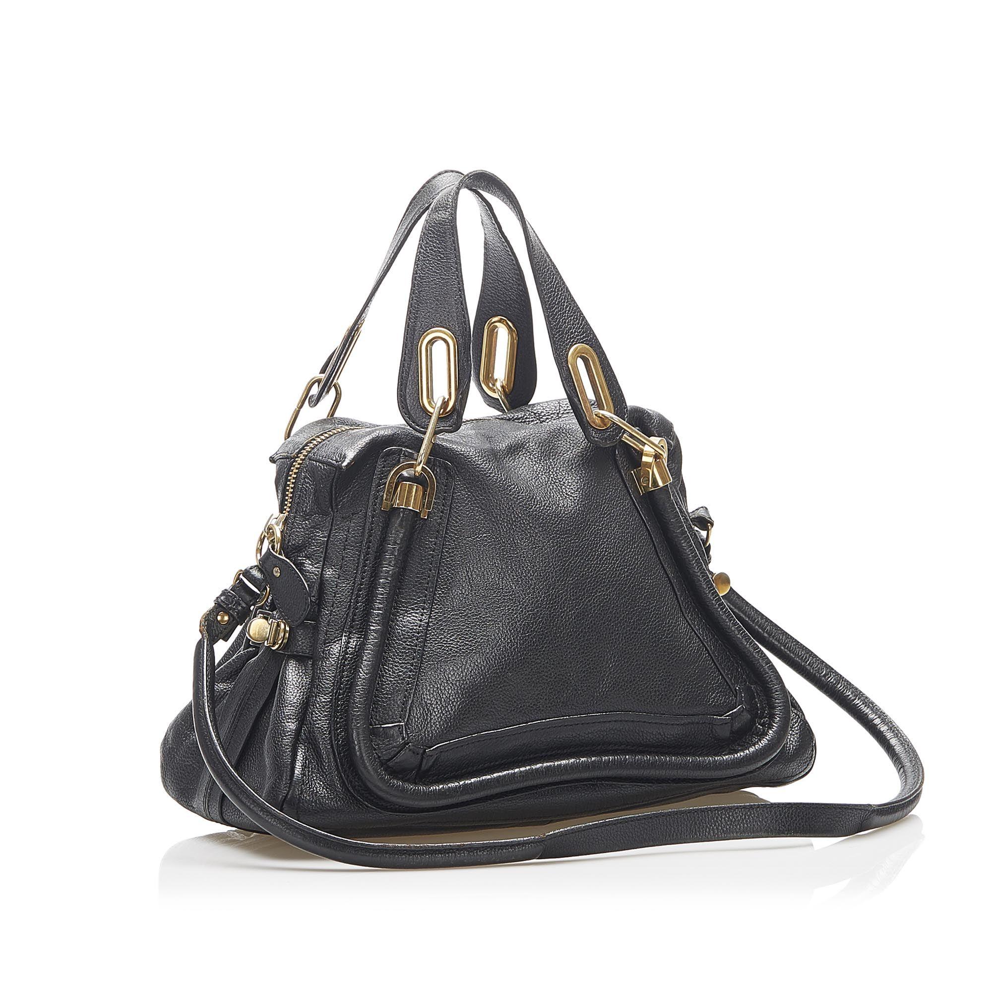 Vintage Chloe Paraty Leather Satchel Black
