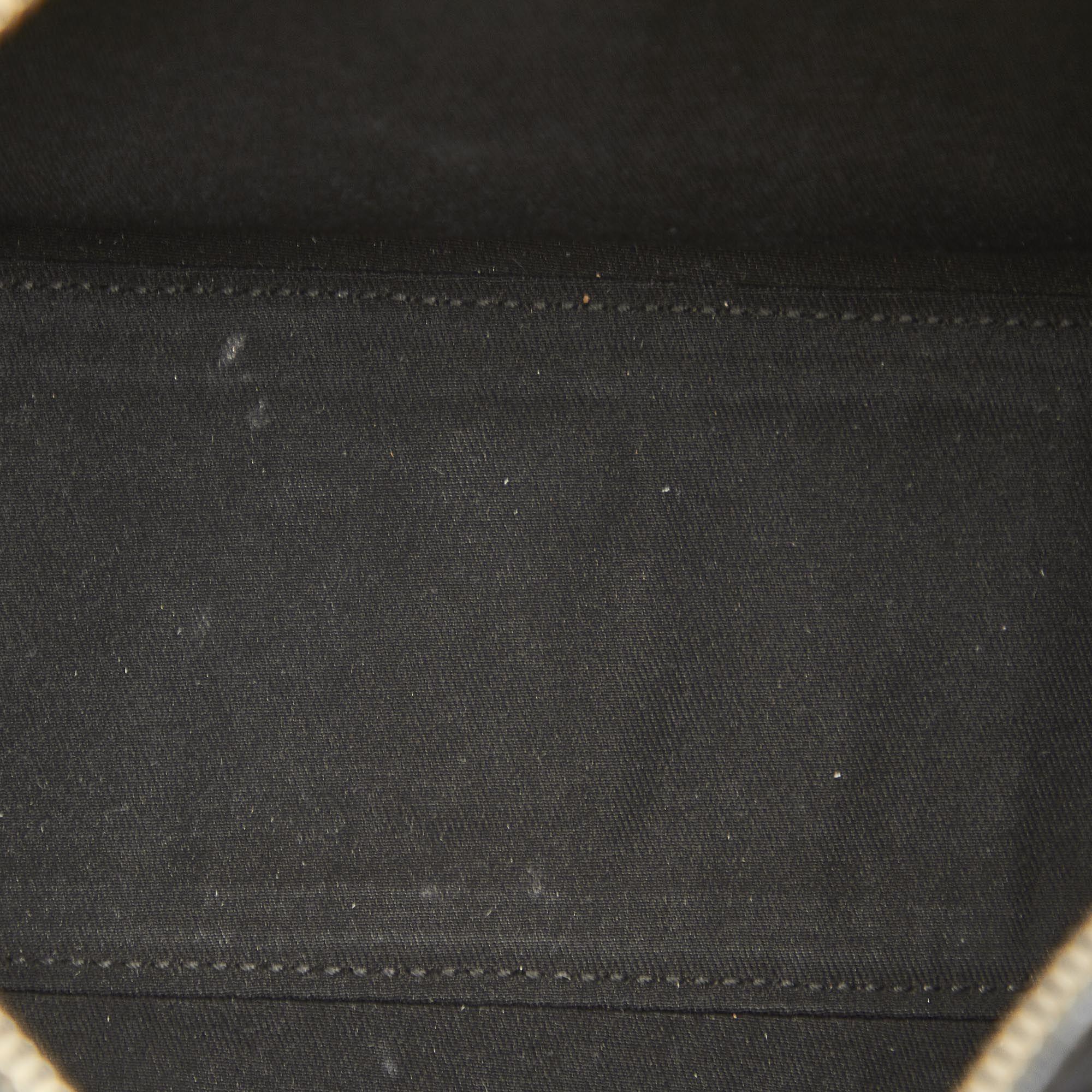Vintage Gucci Abbey GG Canvas Boston Bag Black