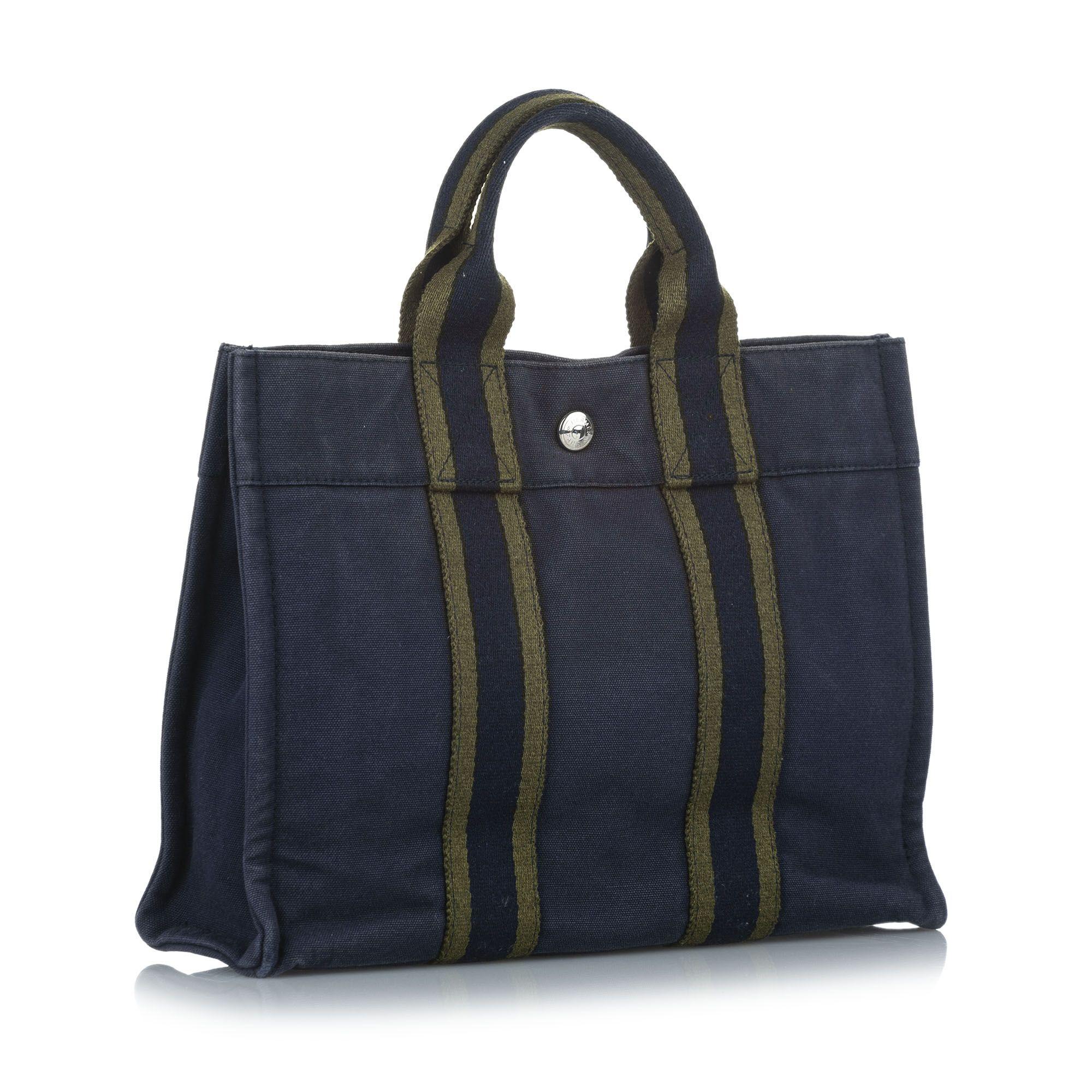 Vintage Hermes Fourre Tout PM Blue