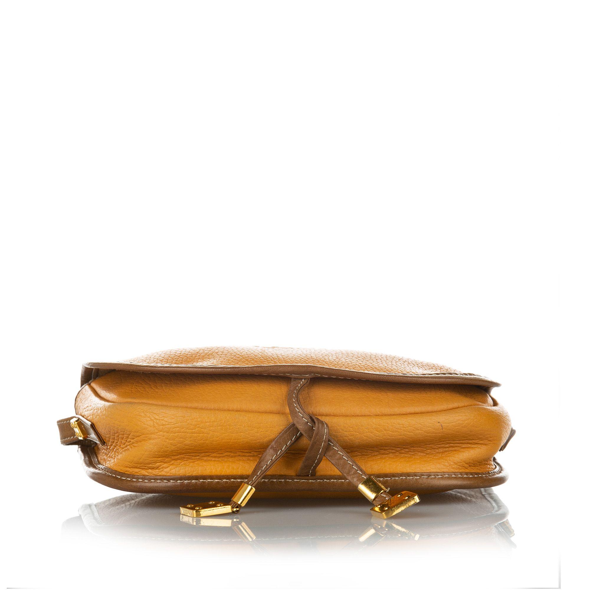 Vintage Loewe Anagram Leather Crossbody Bag Brown