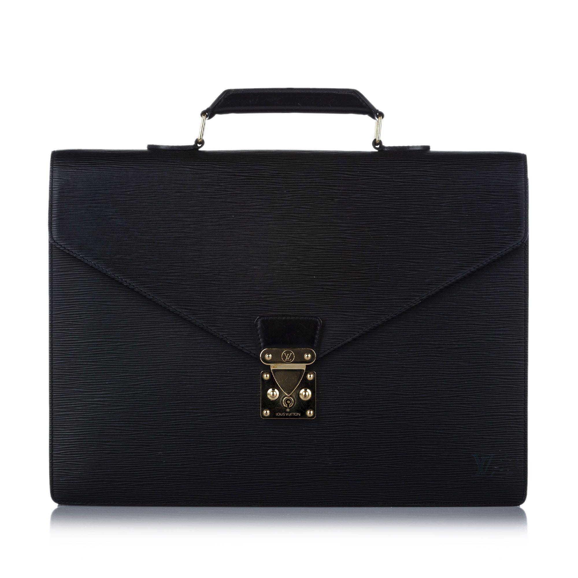 Vintage Louis Vuitton Epi Serviette Ambassadeur Black