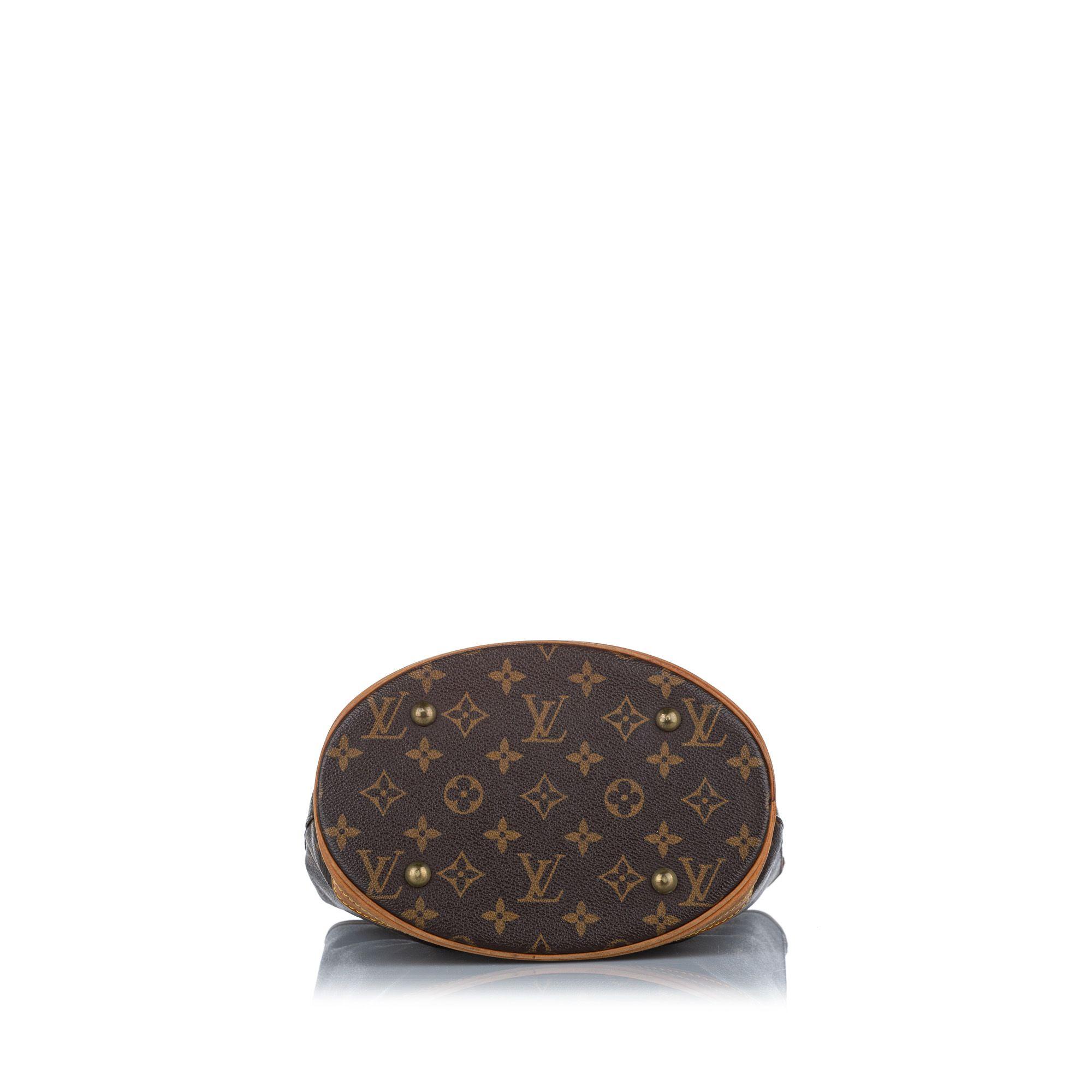 Vintage Louis Vuitton Monogram Petit Bucket Brown