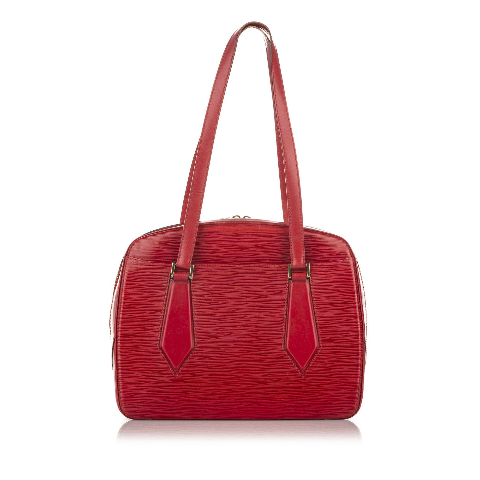 Vintage Louis Vuitton Epi Voltaire Red