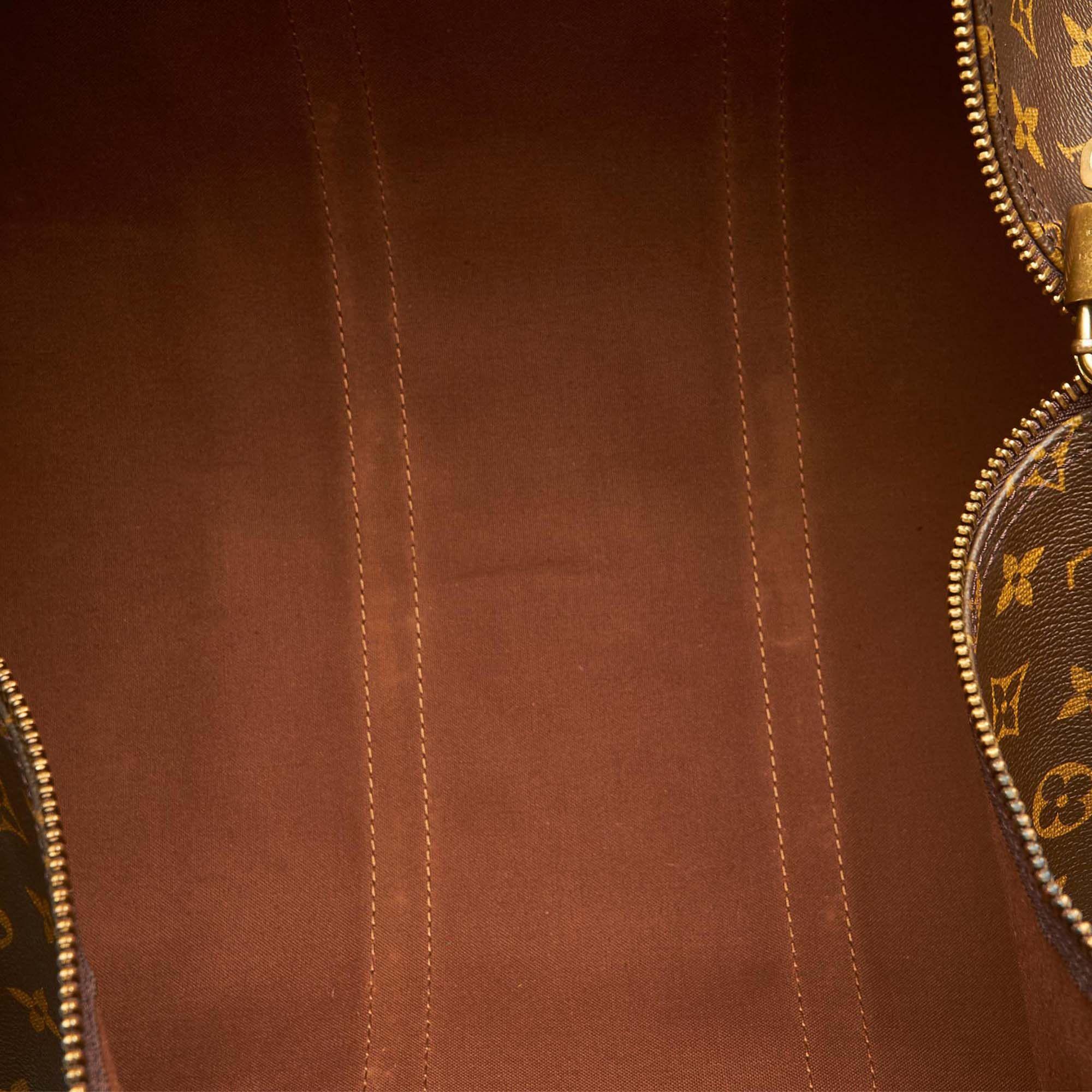 Vintage Louis Vuitton Monogram Keepall 55 Brown