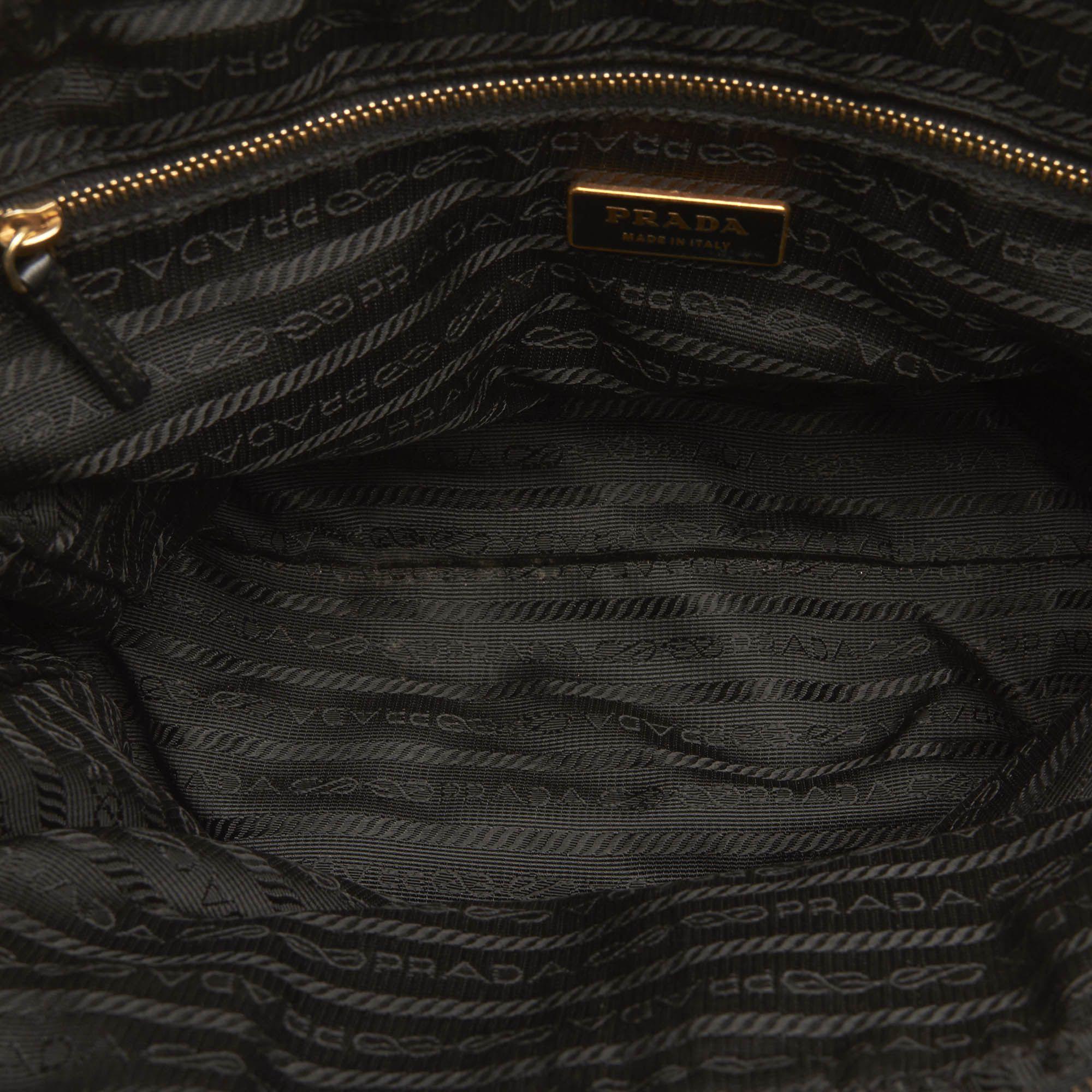 Vintage Prada Tessuto Handbag Black
