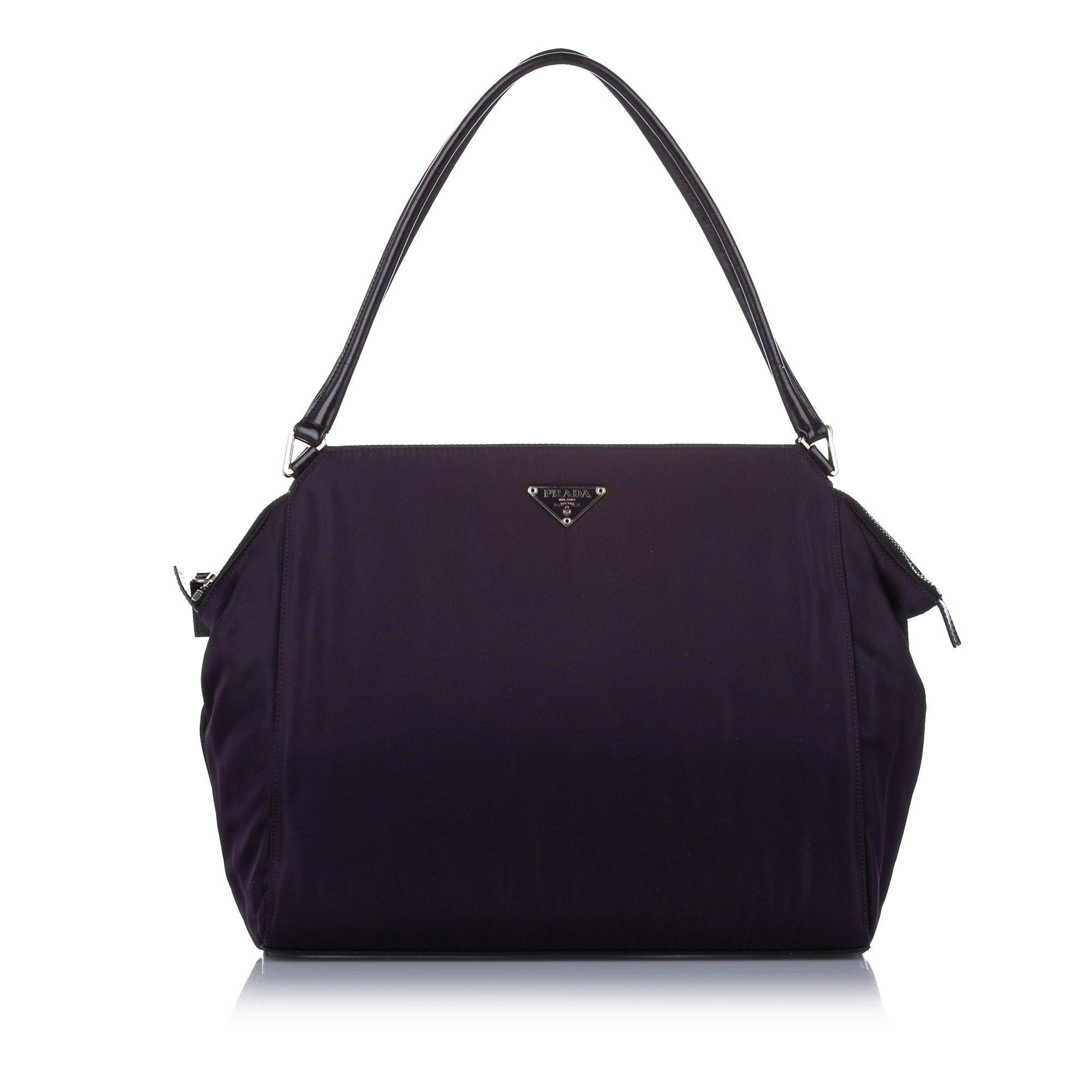 Vintage Prada Tessuto Shoulder Bag Purple