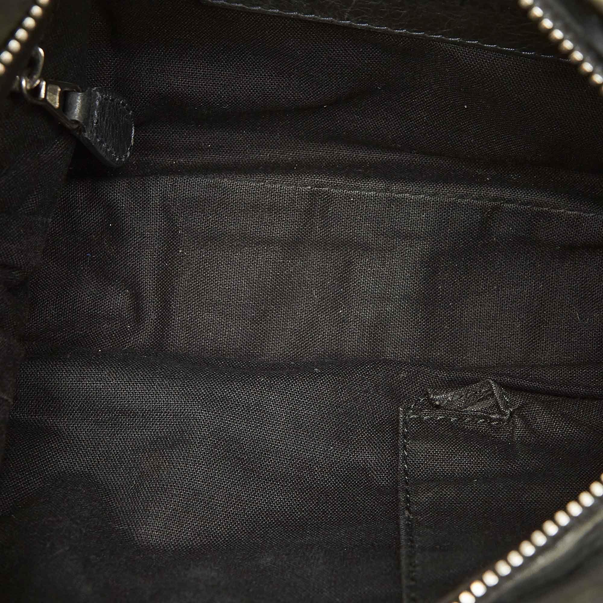 Vintage Balenciaga Leather Crossbody Bag Gray