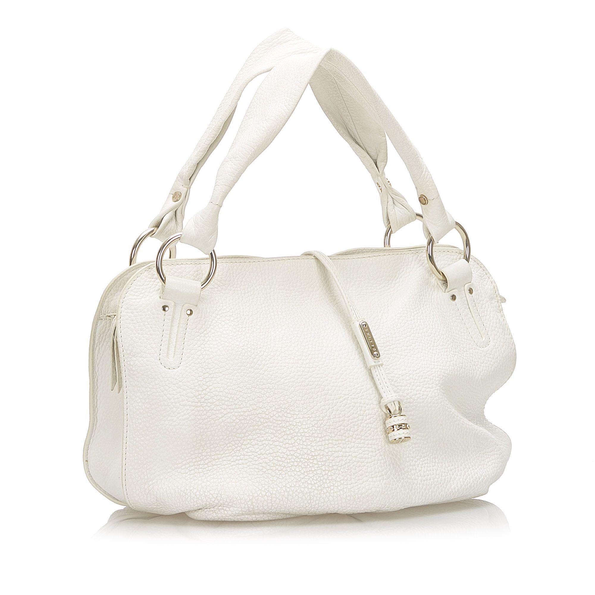 Vintage Celine Bittersweet Leather Shoulder Bag White