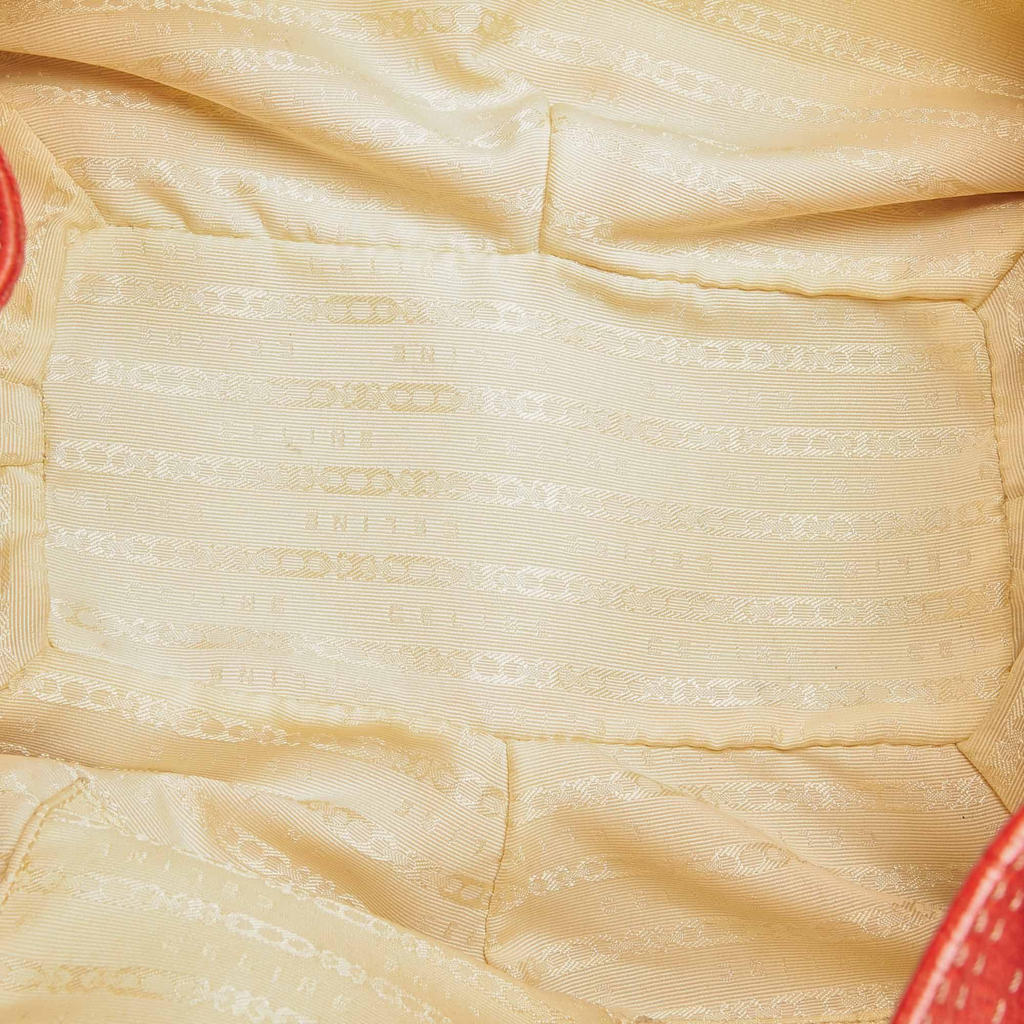 Vintage Celine Bittersweet Leather Shoulder Bag Red