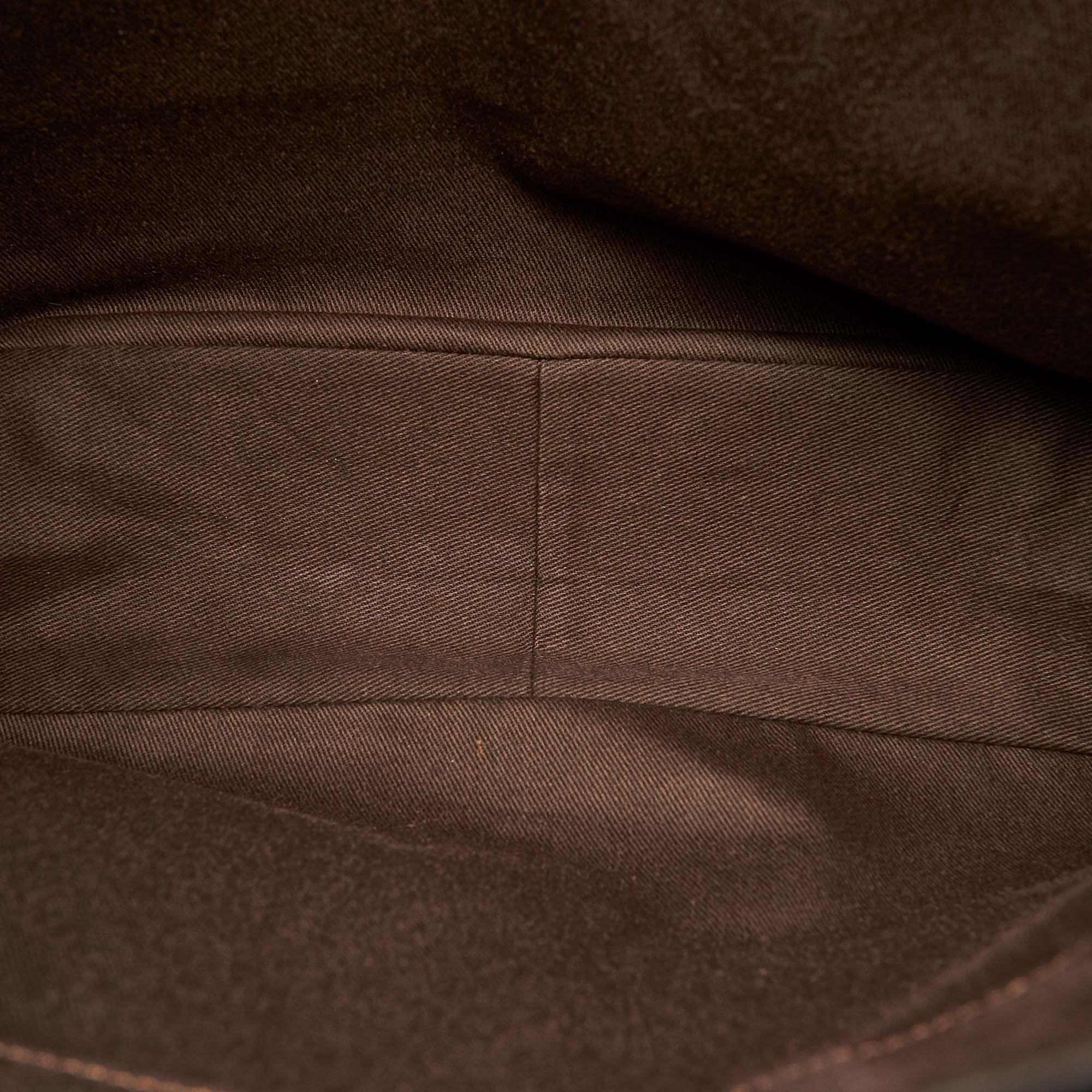 Vintage Celine Macadam Canvas Tote Bag Brown