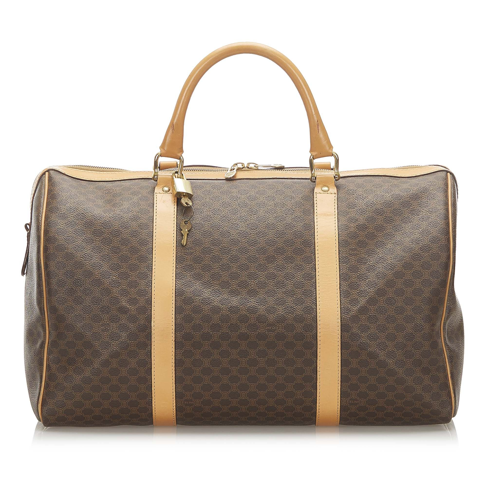 Vintage Celine Macadam Travel Bag Brown