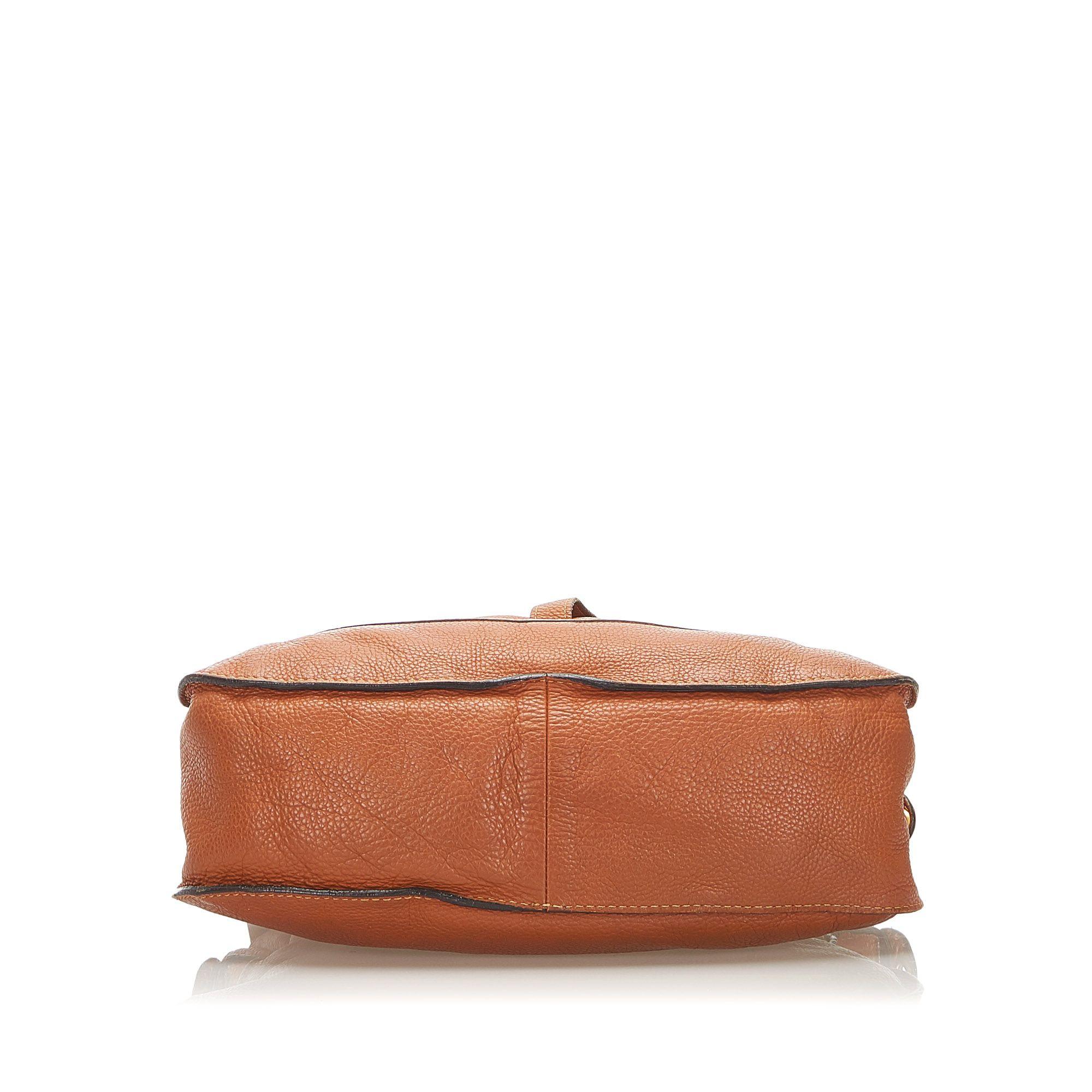 Vintage Chloe Marcie Leather Satchel Brown