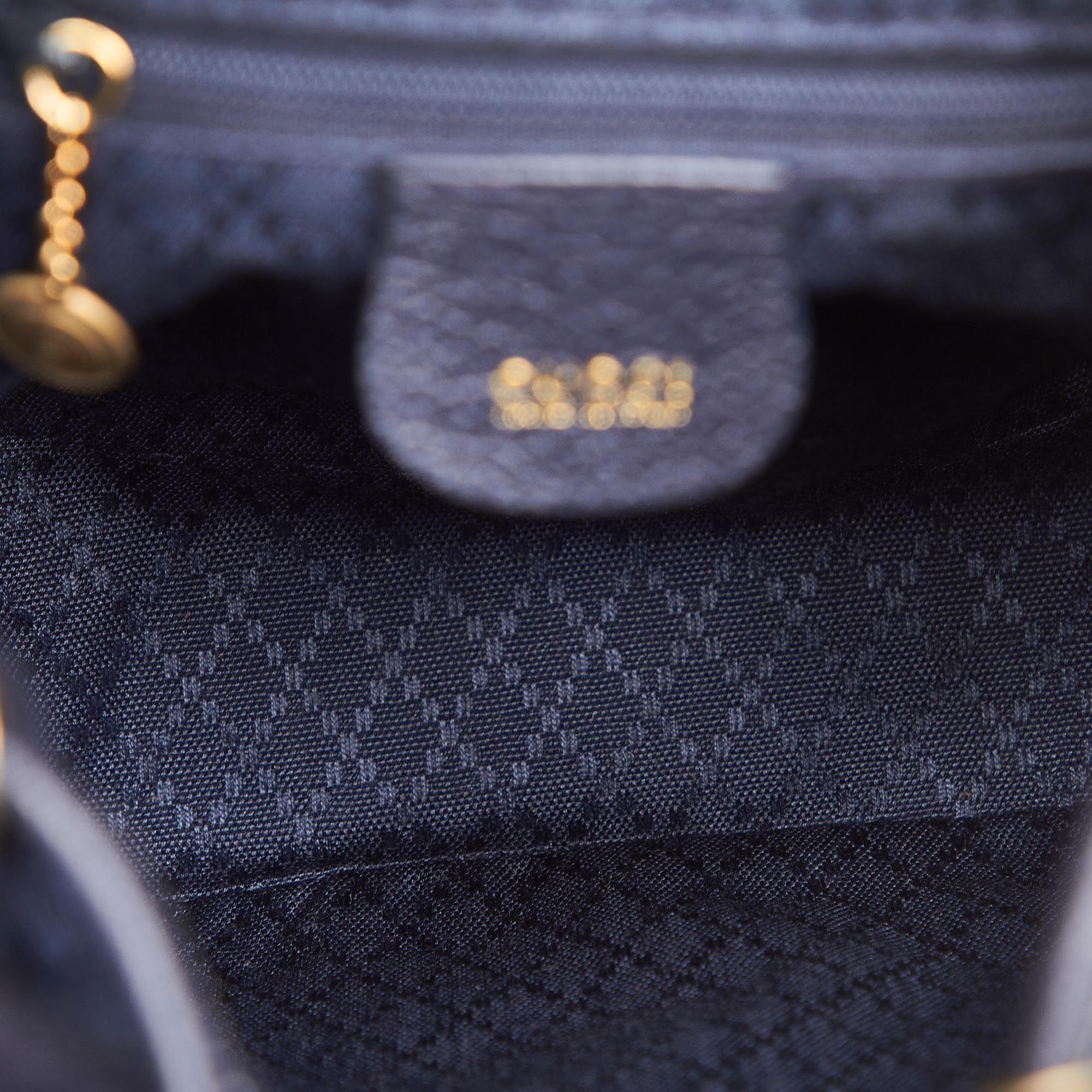 Vintage Gucci Bamboo Suede Backpack Black