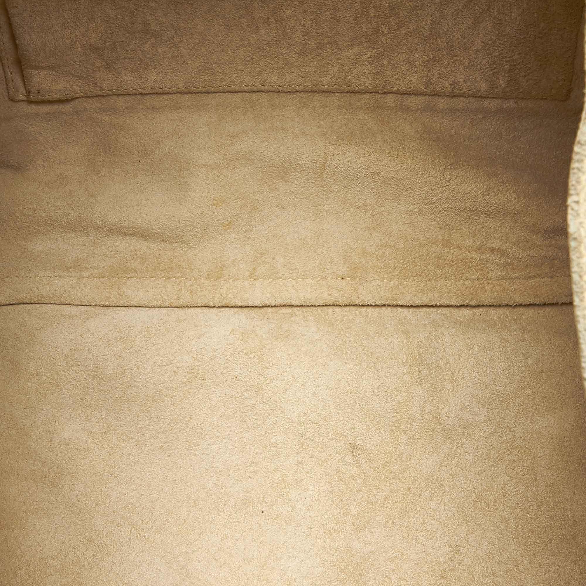 Vintage Gucci Suede Handbag Brown