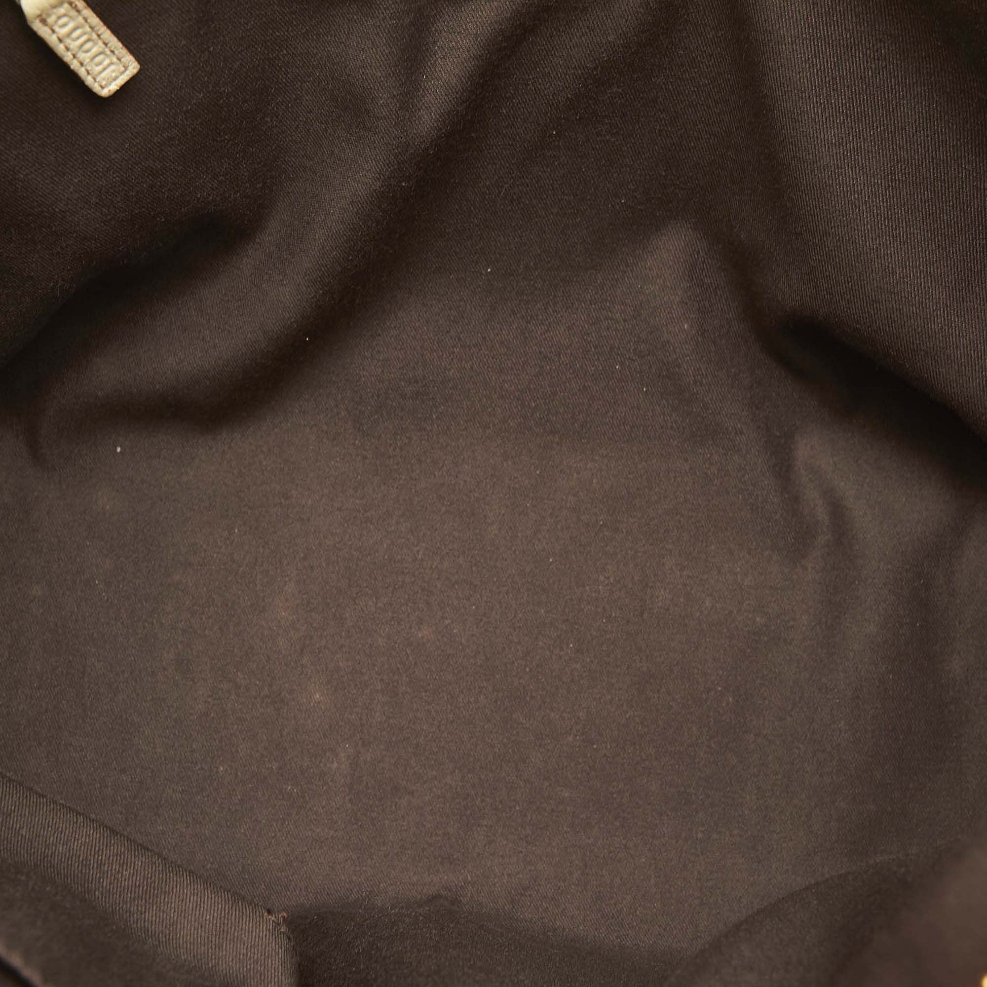 Vintage Gucci GG Canvas Abbey Shoulder Bag Brown